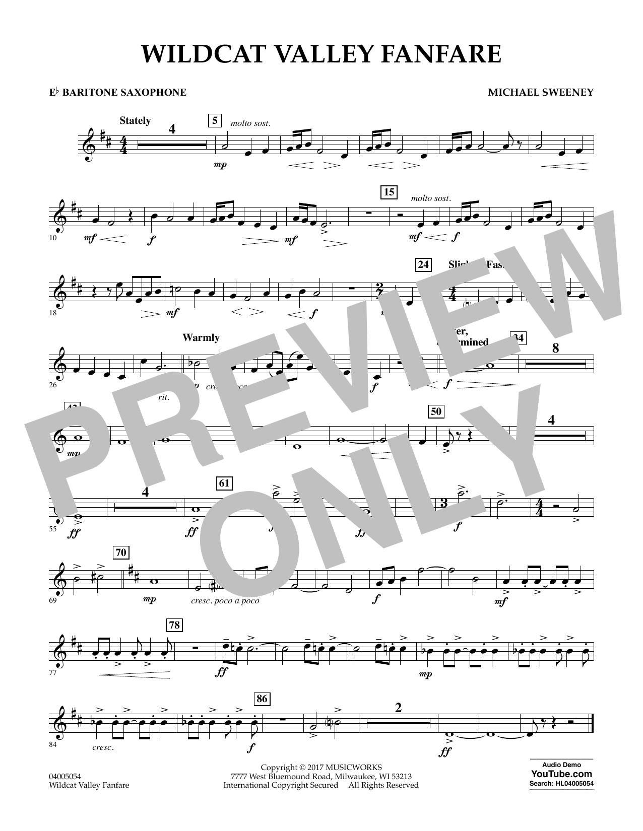 Wildcat Valley Fanfare - Eb Baritone Saxophone Sheet Music