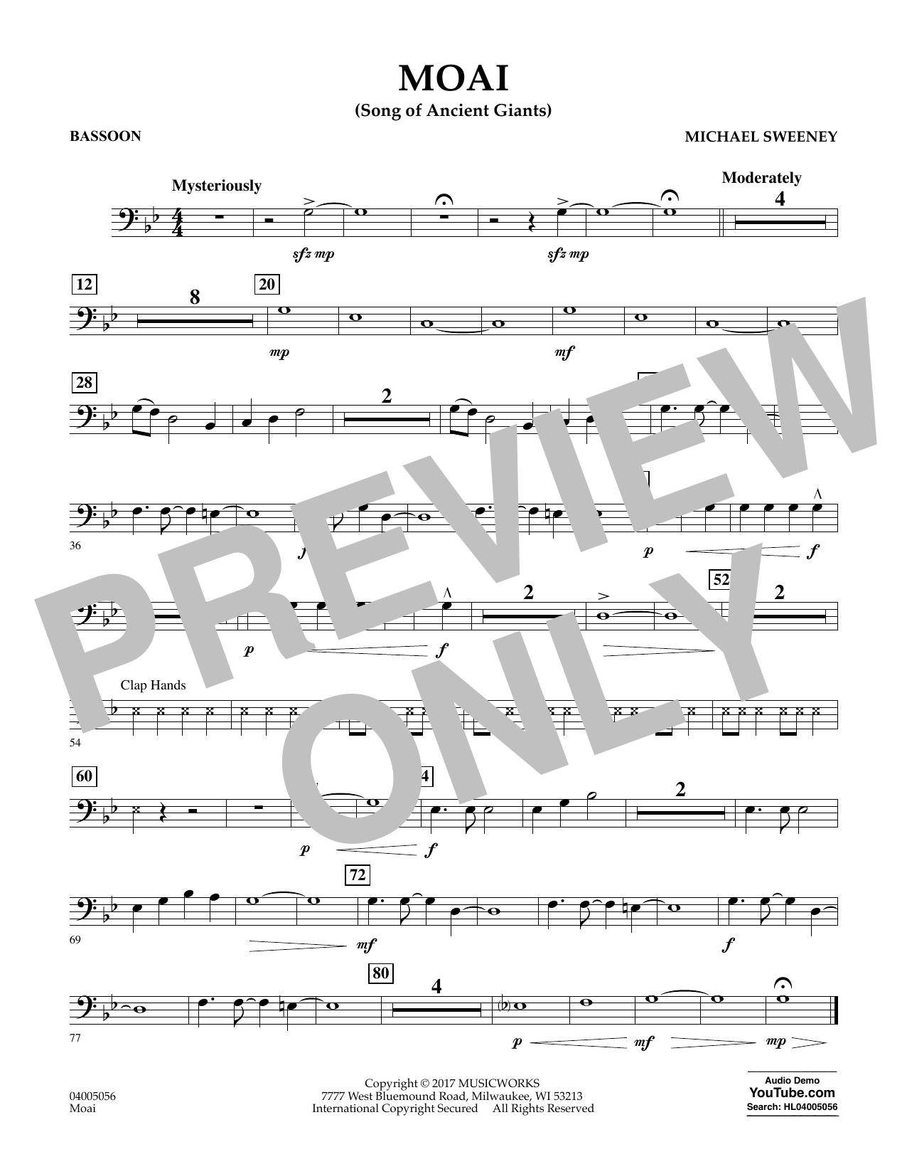 Moai (Songs of Ancient Giants) - Bassoon Sheet Music
