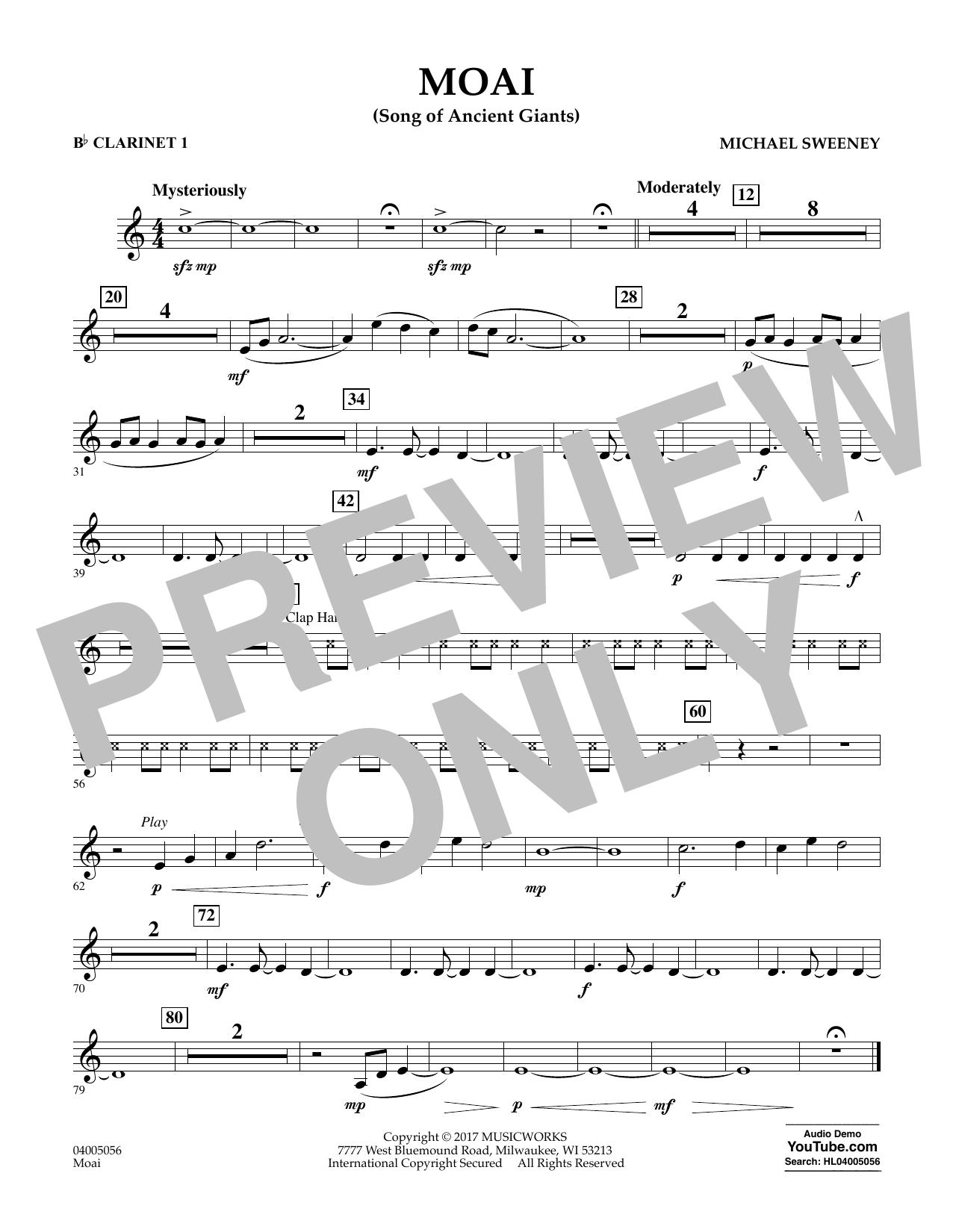 Moai (Songs of Ancient Giants) - Bb Clarinet 1 Sheet Music