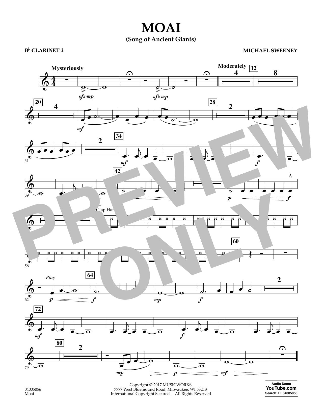 Moai (Songs of Ancient Giants) - Bb Clarinet 2 Sheet Music