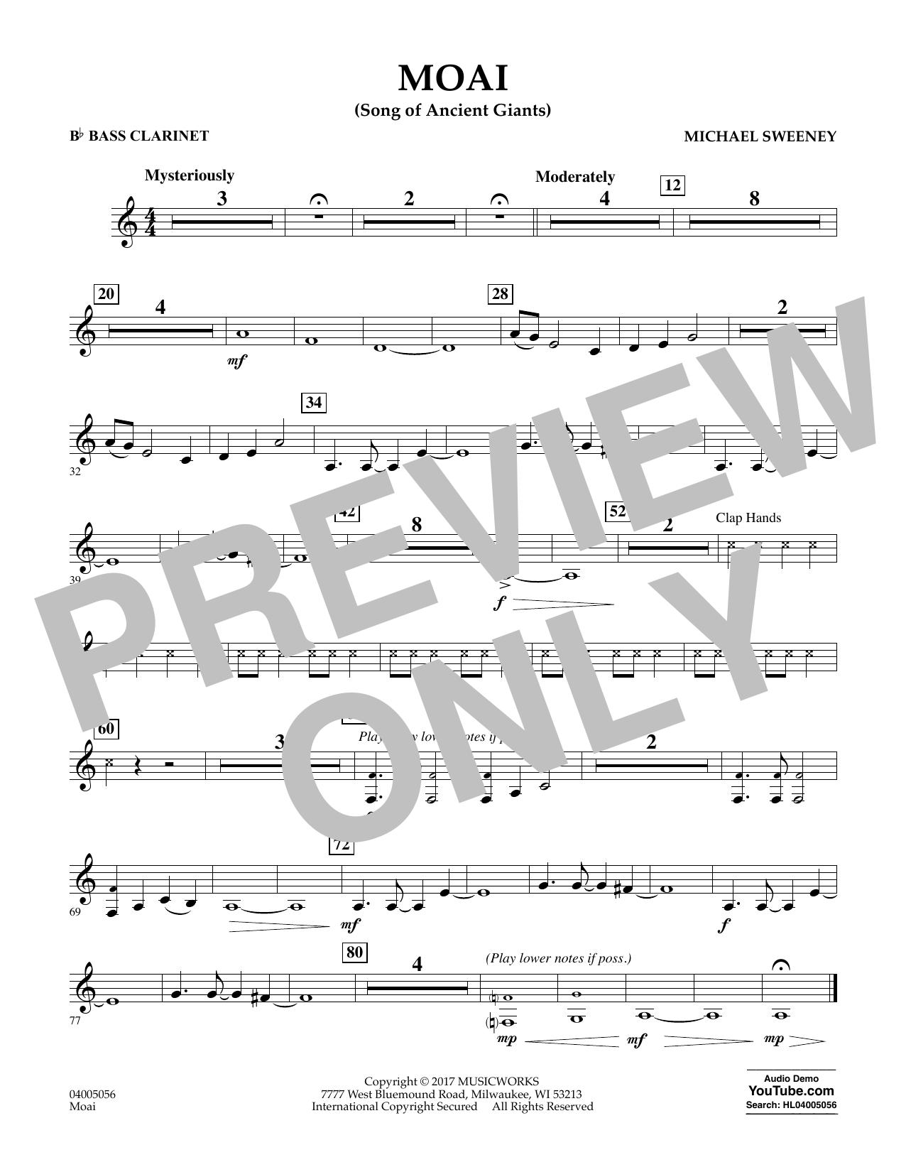 Moai (Songs of Ancient Giants) - Bb Bass Clarinet Digitale Noten