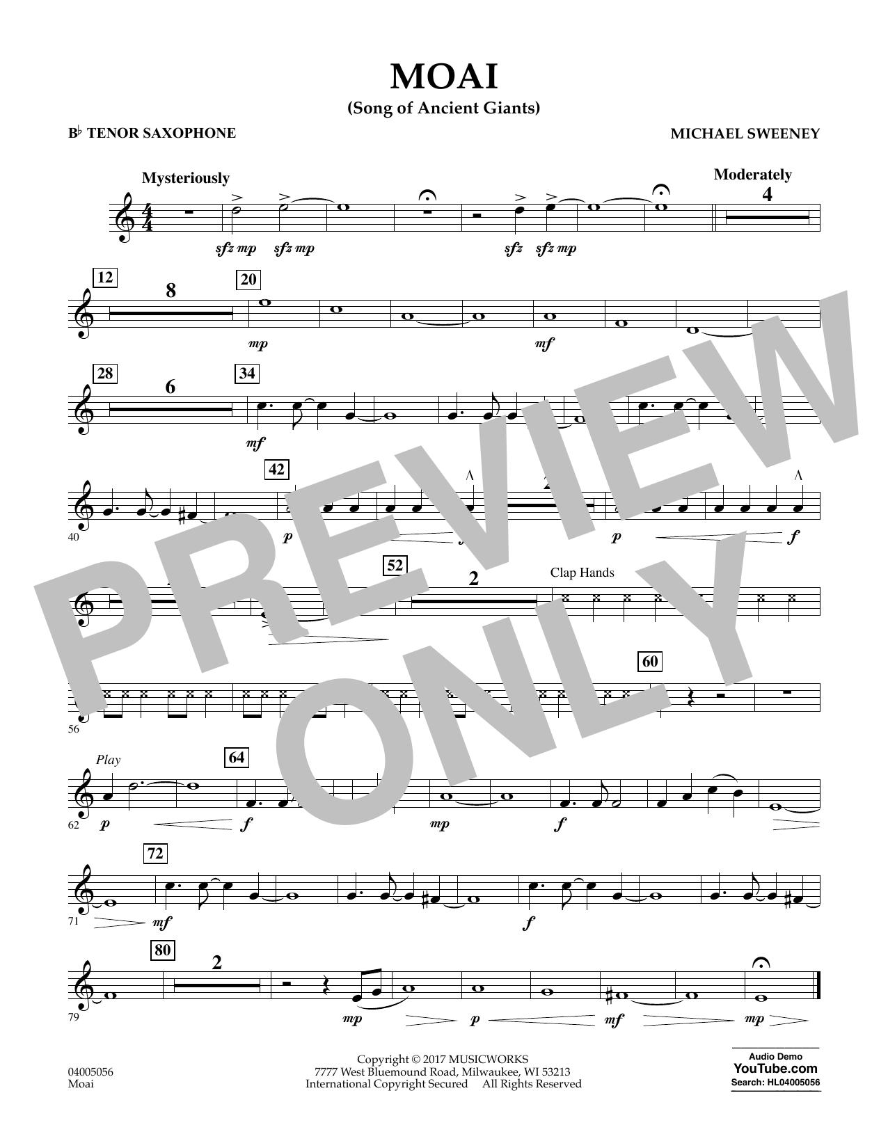 Moai (Songs of Ancient Giants) - Bb Tenor Saxophone