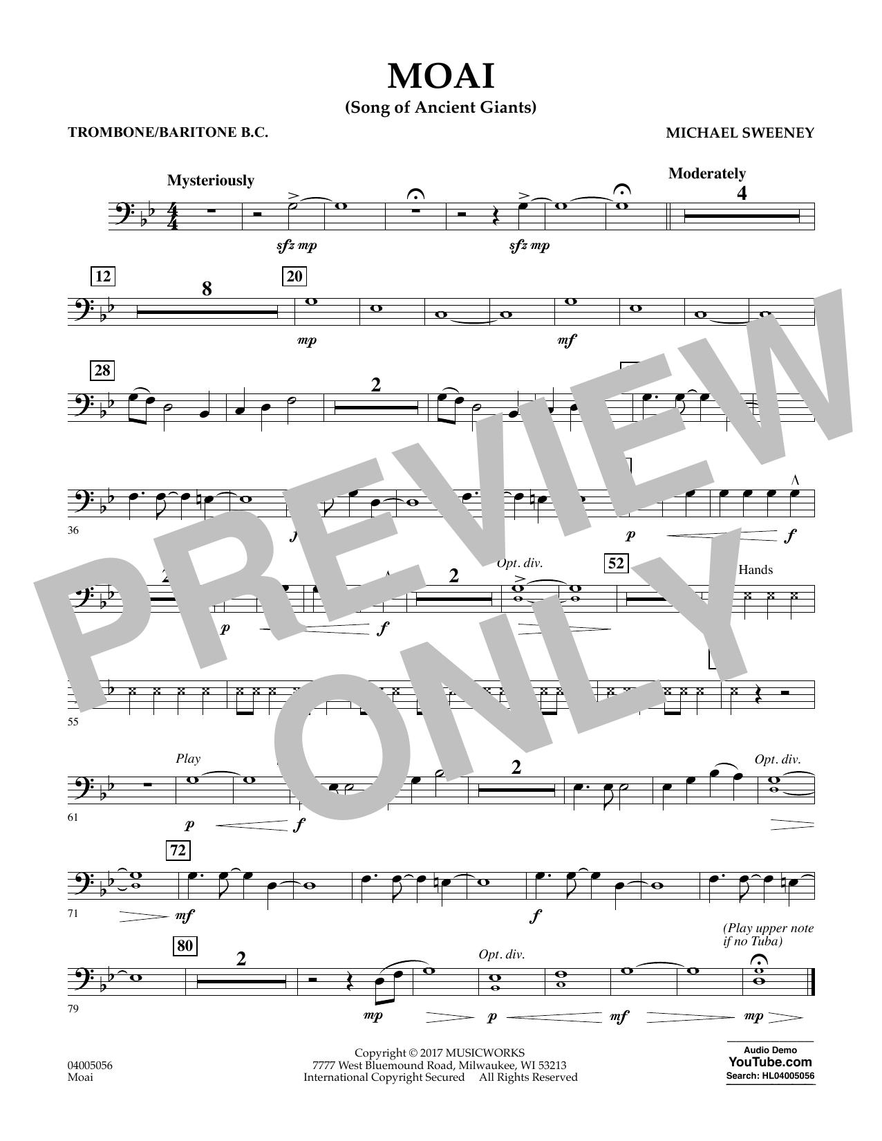 Moai (Songs of Ancient Giants) - Trombone/Baritone B.C. Sheet Music