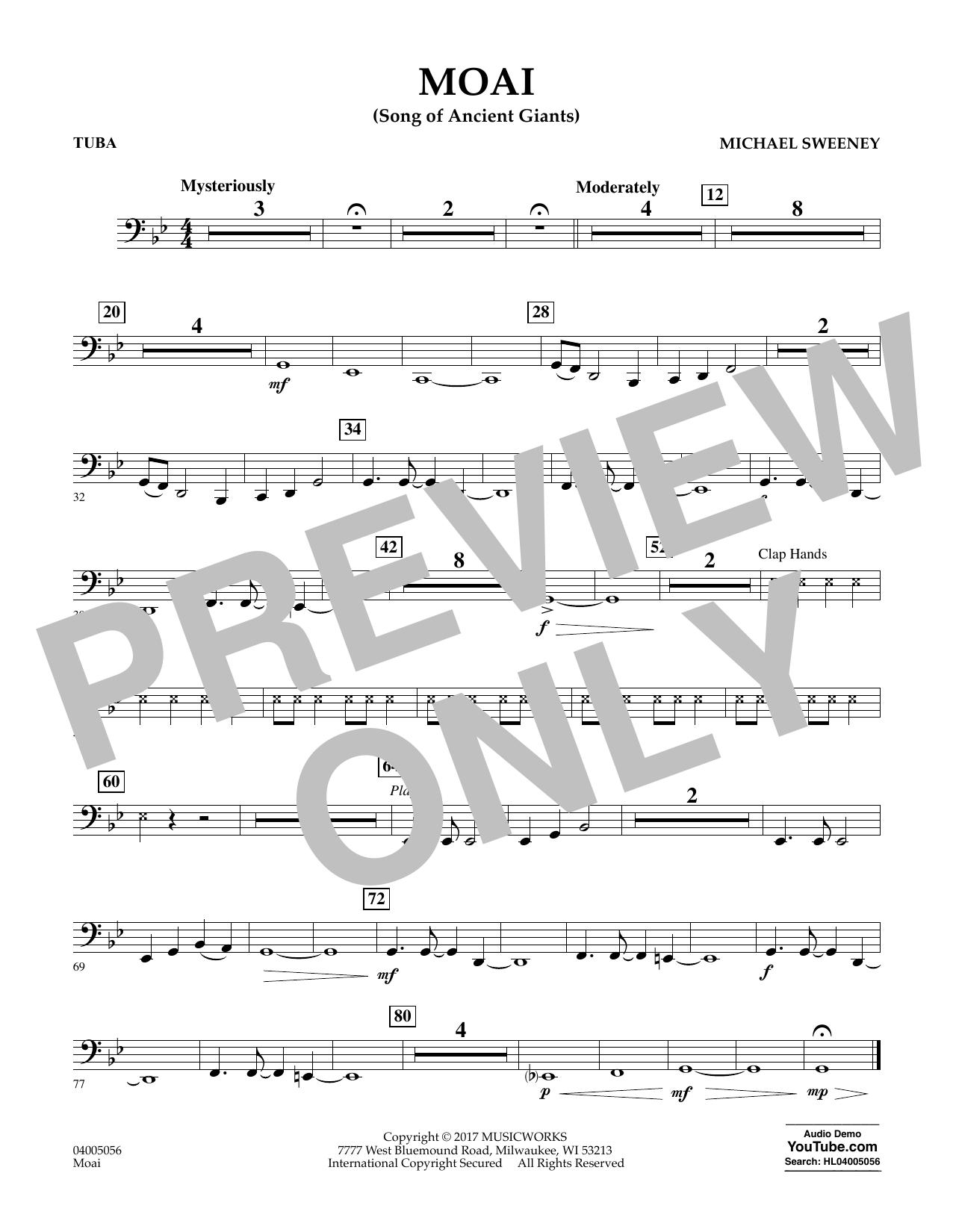 Moai (Songs of Ancient Giants) - Tuba Sheet Music