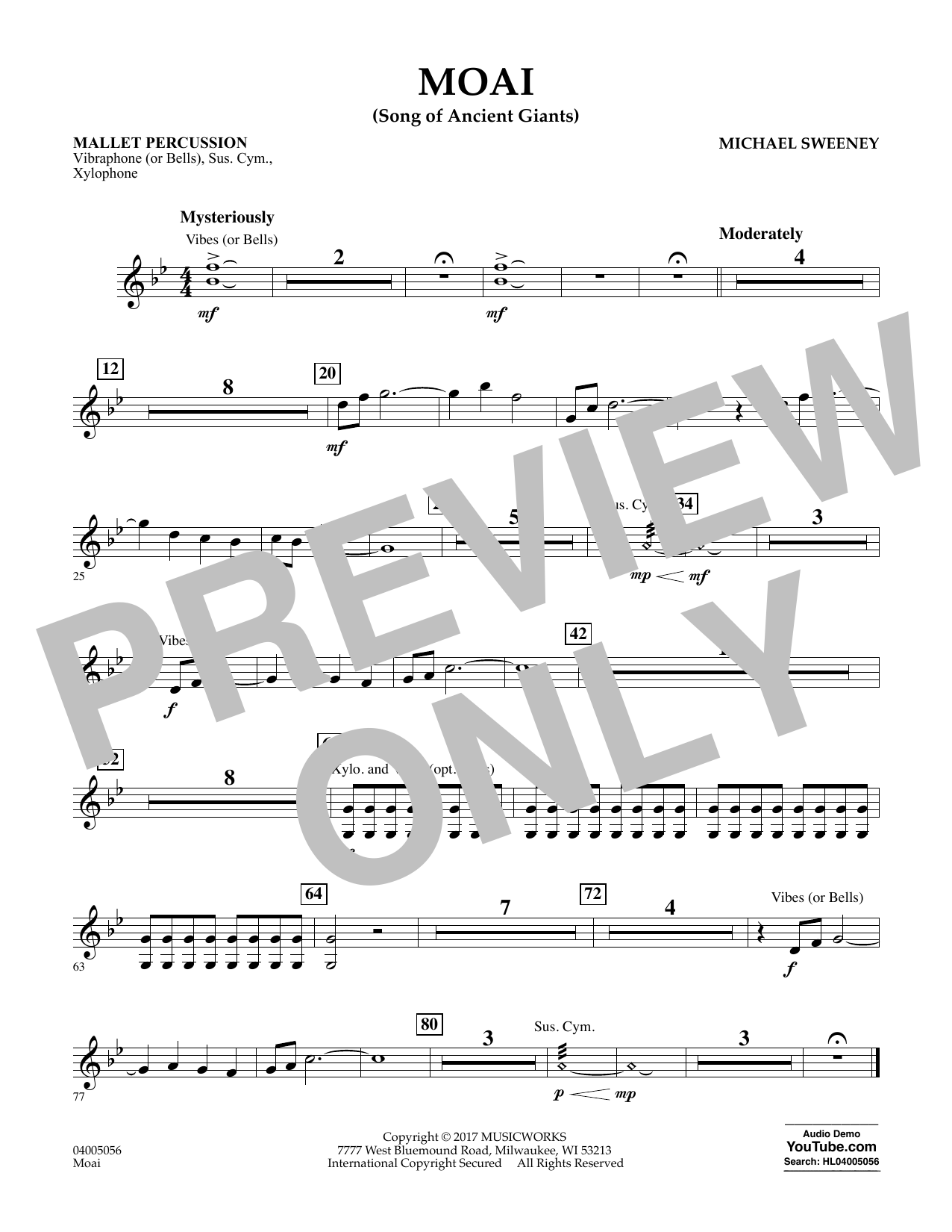 Moai (Songs of Ancient Giants) - Mallet Percussion Sheet Music