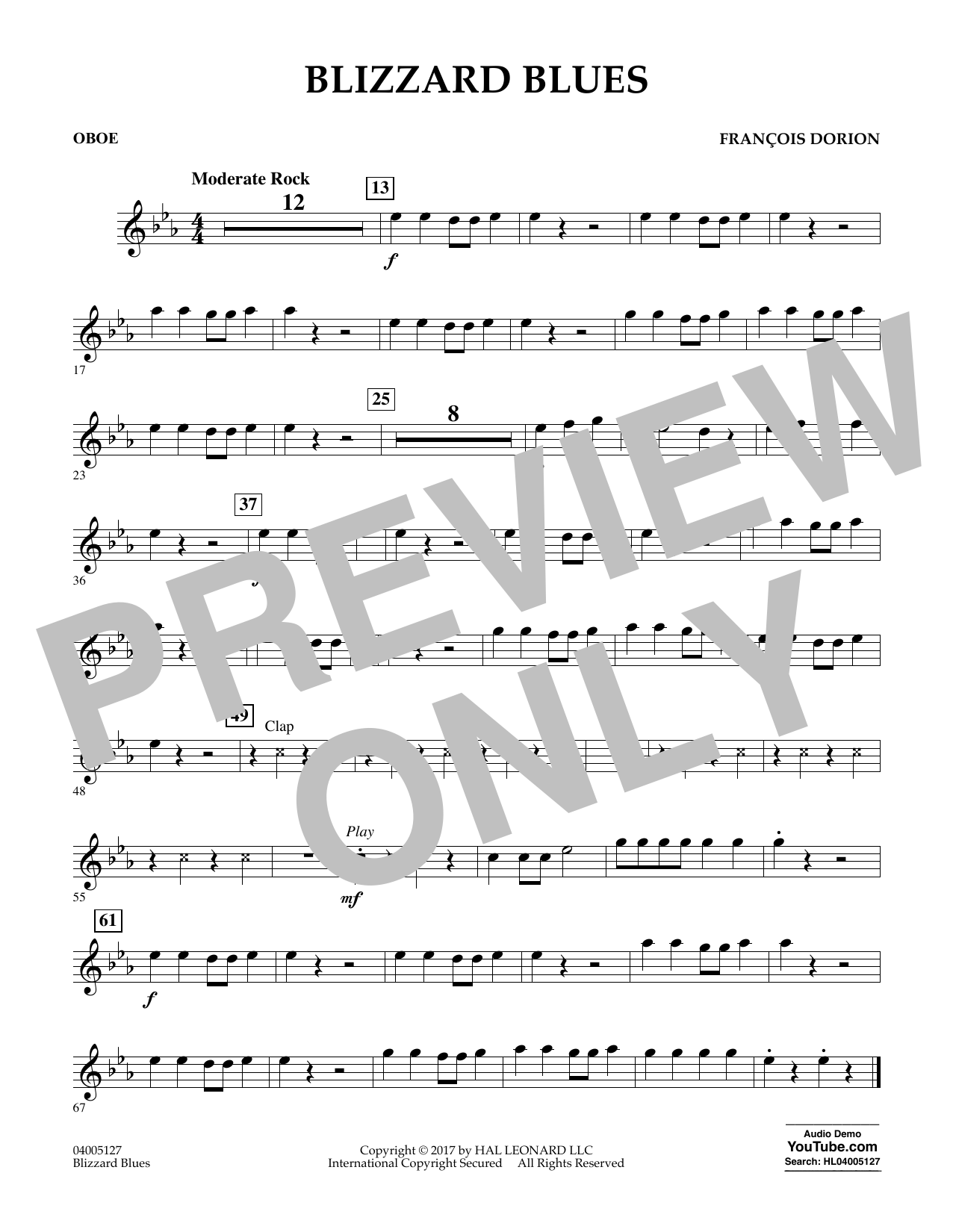 Blizzard Blues - Oboe Sheet Music