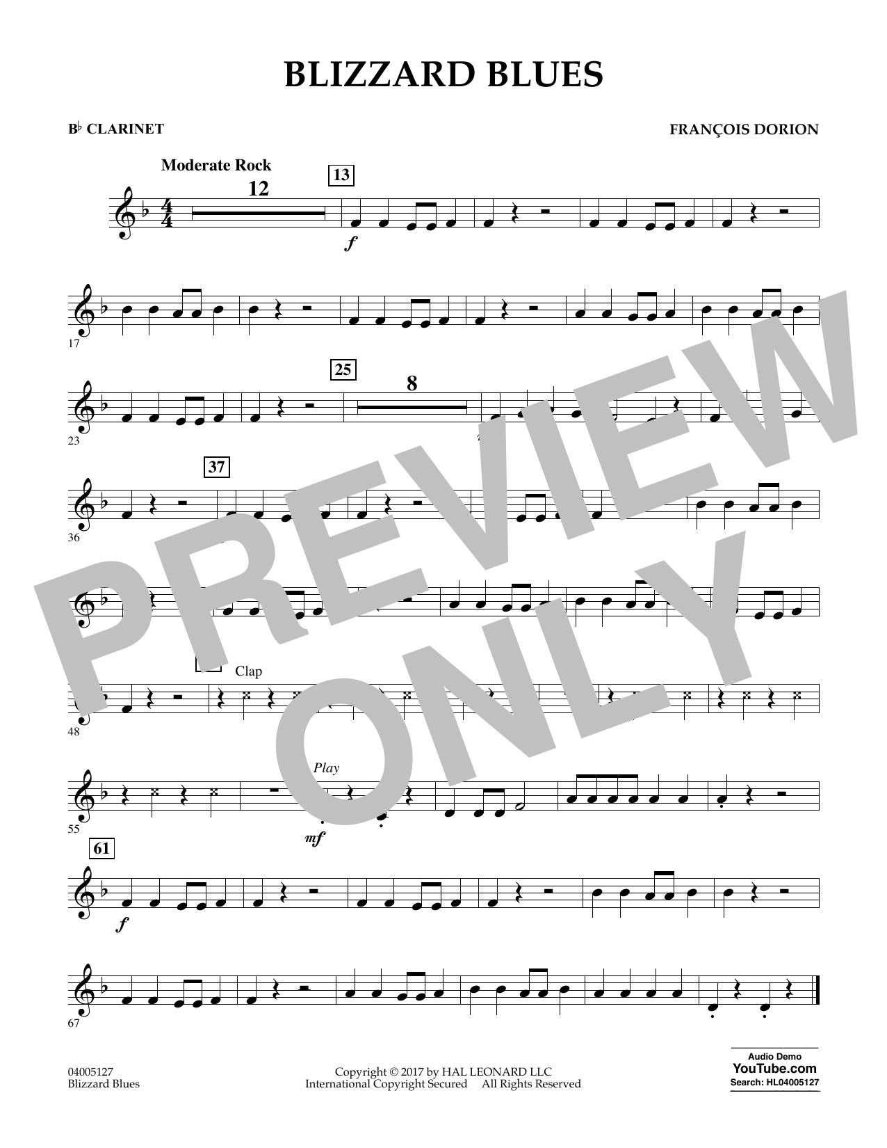 Blizzard Blues - Bb Clarinet Sheet Music