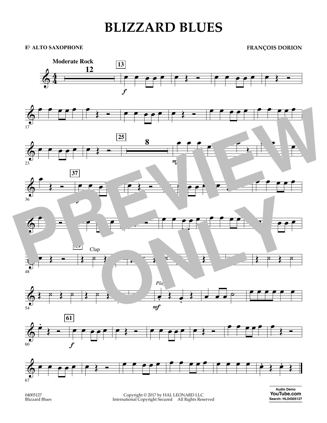 Blizzard Blues - Eb Alto Saxophone Sheet Music