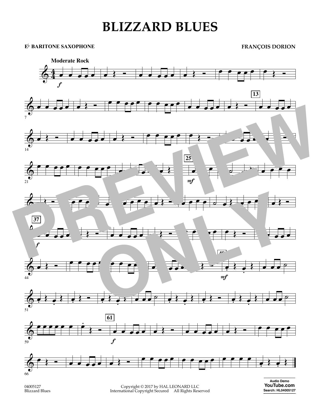 Blizzard Blues - Eb Baritone Saxophone Sheet Music
