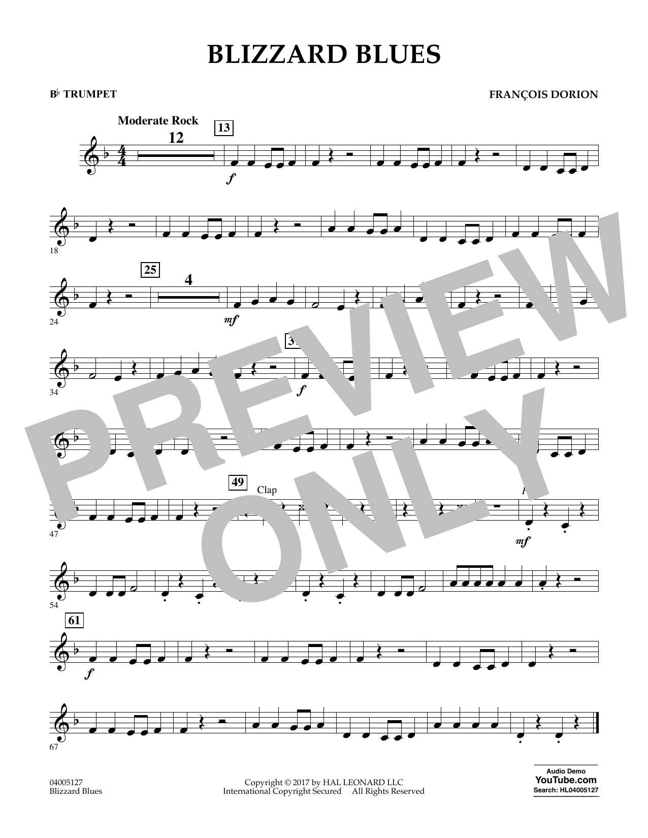 Blizzard Blues - Bb Trumpet Sheet Music