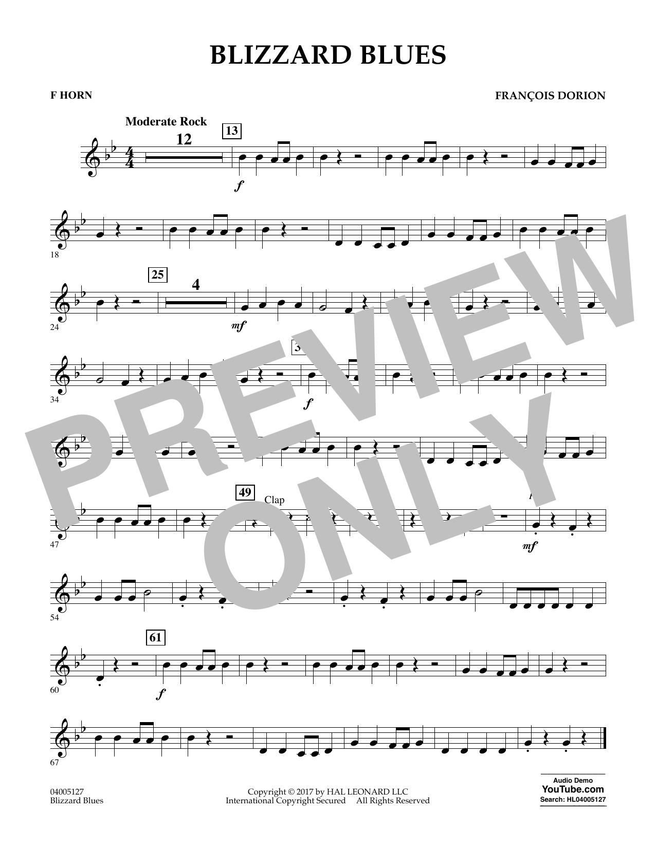 Blizzard Blues - F Horn Sheet Music