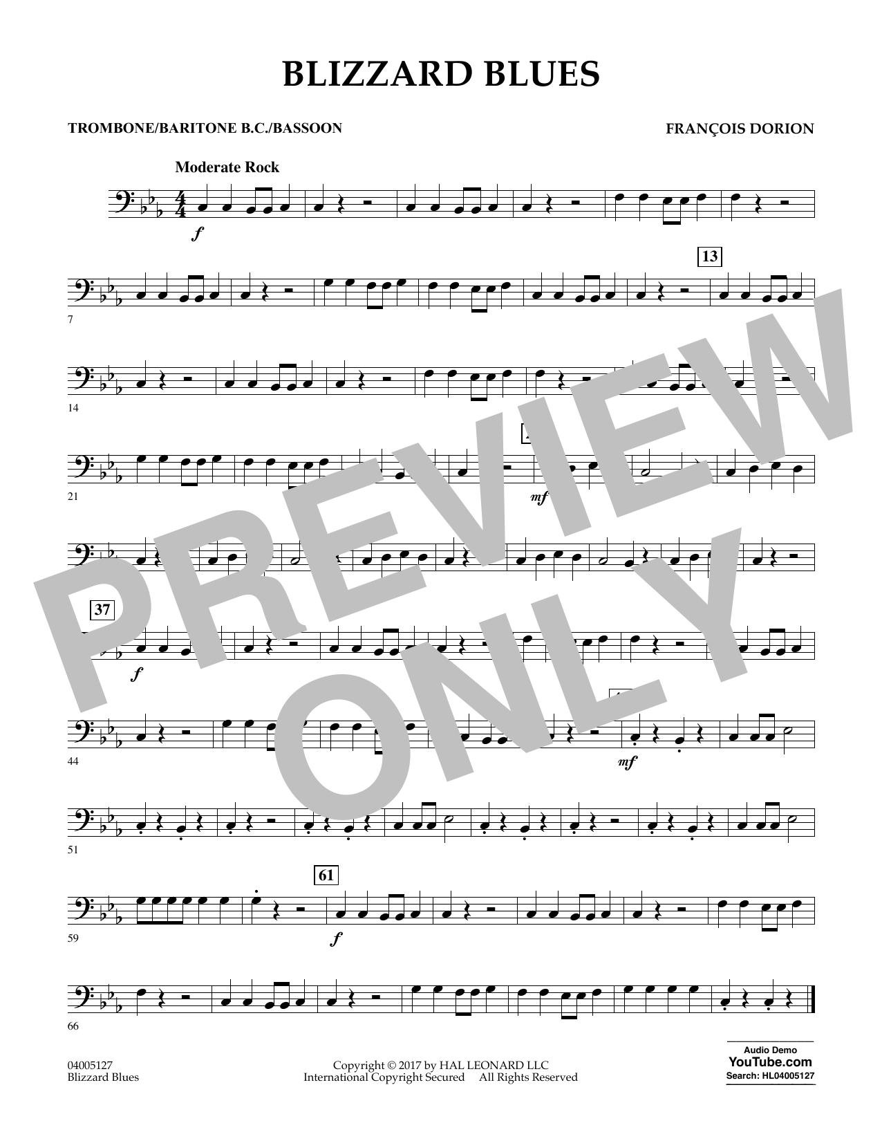 Blizzard Blues - Trombone/Baritone B.C./Bassoon Sheet Music
