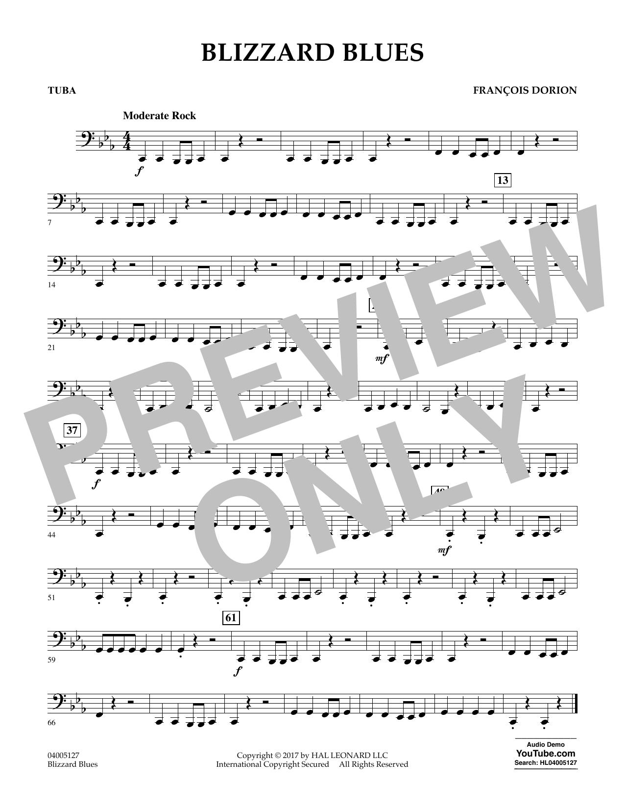 Blizzard Blues - Tuba (Concert Band)