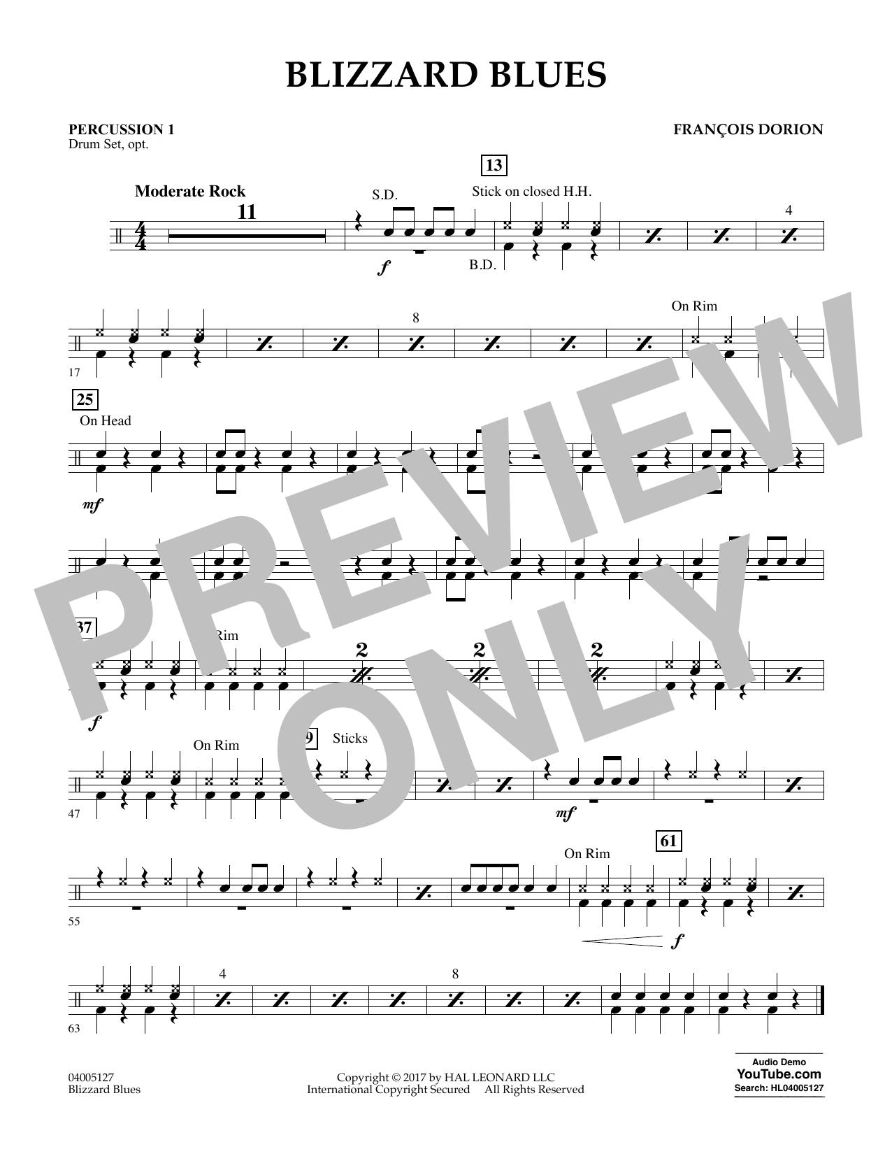 Blizzard Blues - Percussion 1 Sheet Music