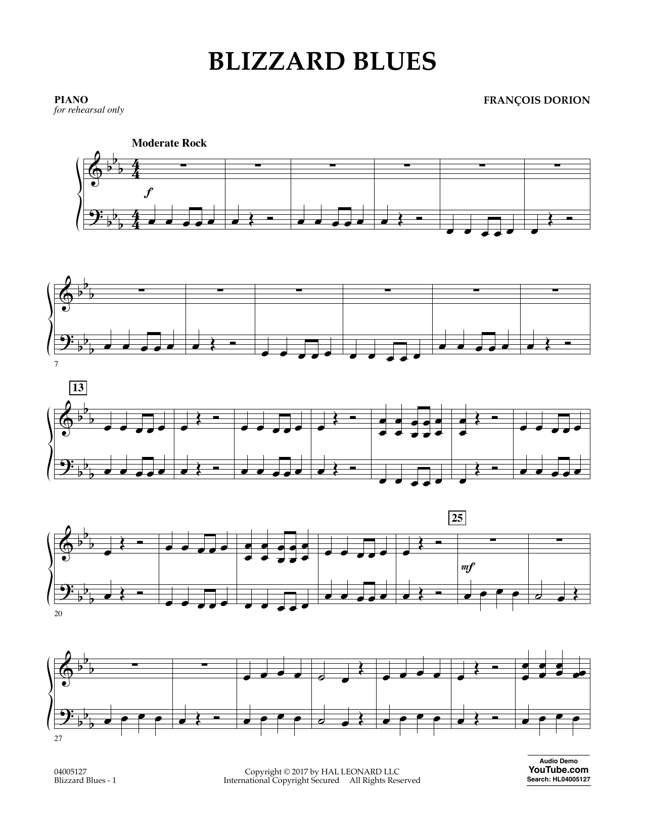 Blizzard Blues - Piano Sheet Music