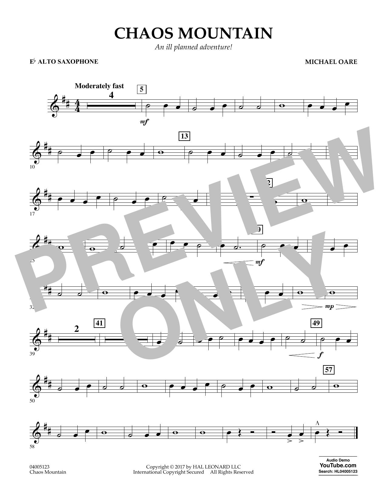 Chaos Mountain - Eb Alto Saxophone Sheet Music