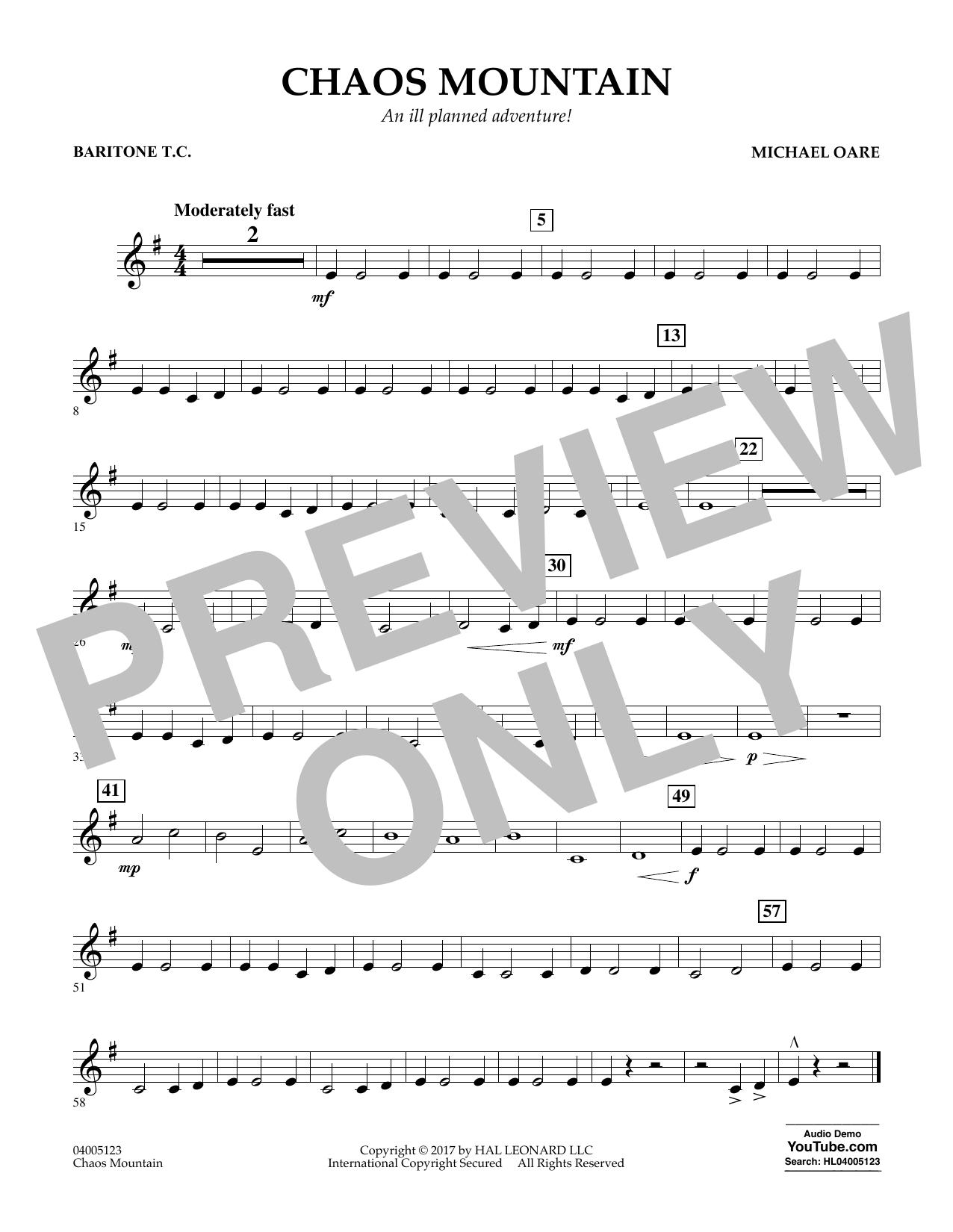Chaos Mountain - Baritone T.C. Sheet Music