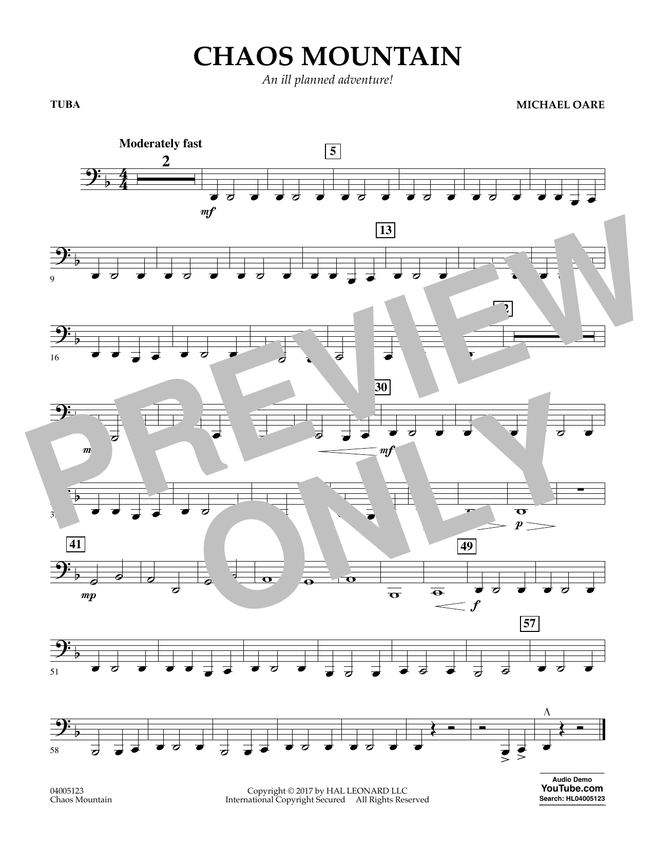 Chaos Mountain - Tuba Sheet Music