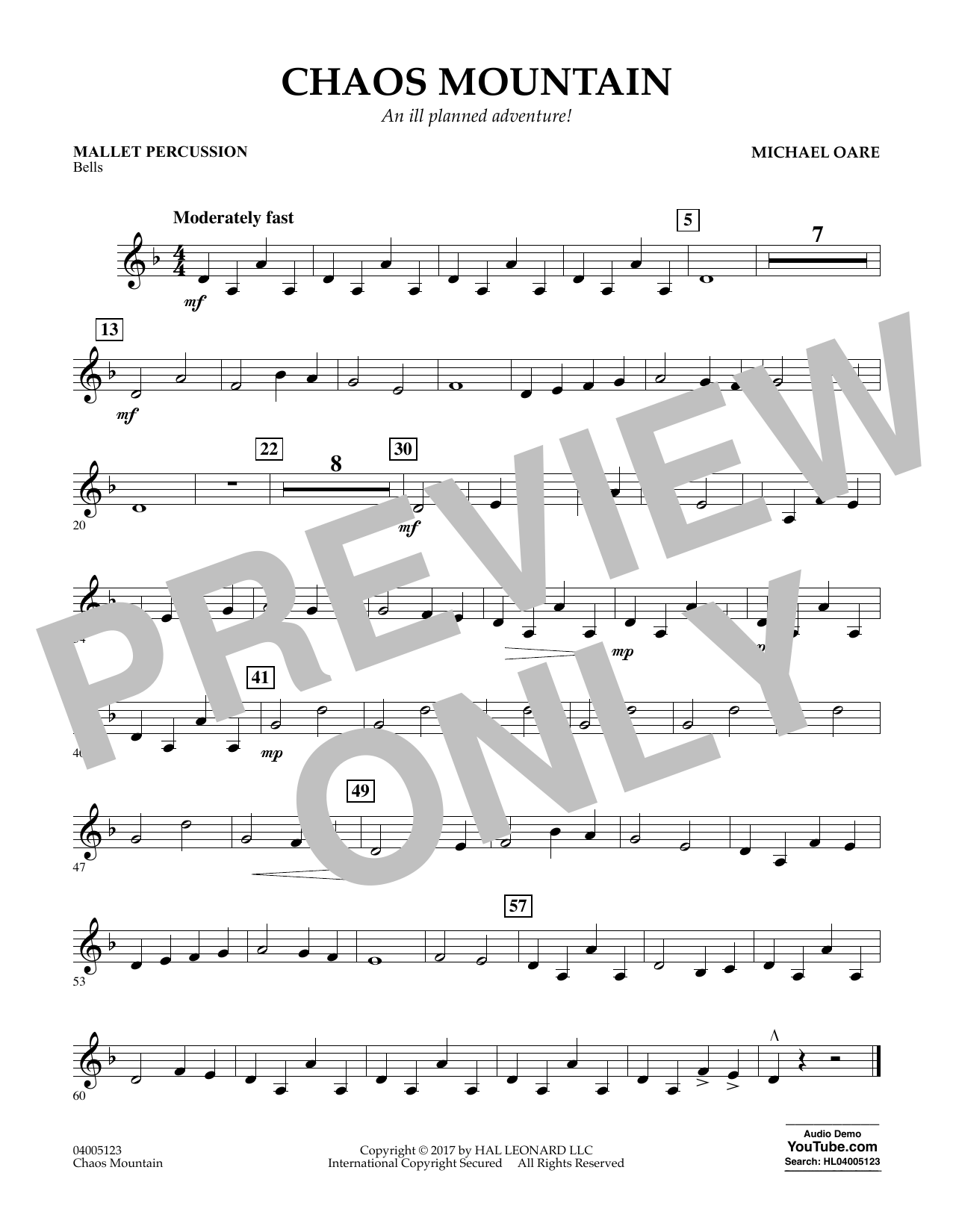 Chaos Mountain - Mallet Percussion Sheet Music