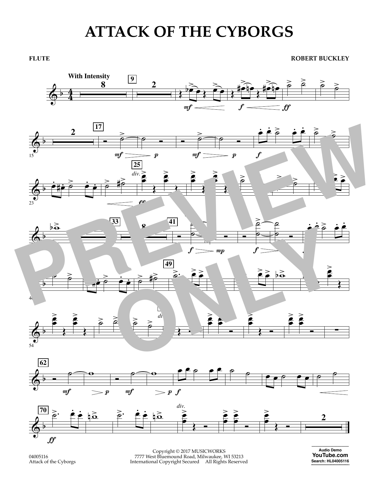 Attack of the Cyborgs - Flute Sheet Music