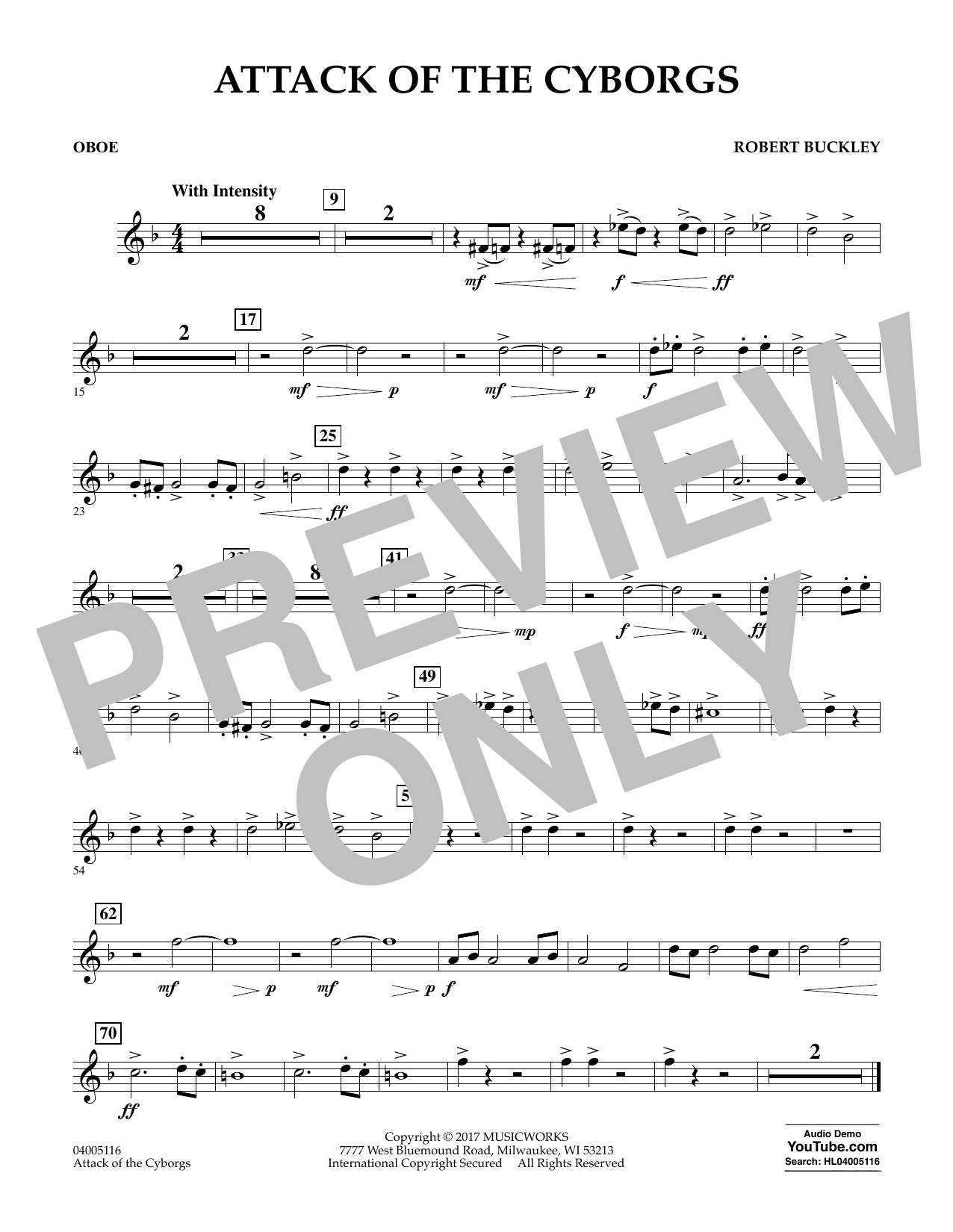 Attack of the Cyborgs - Oboe Sheet Music