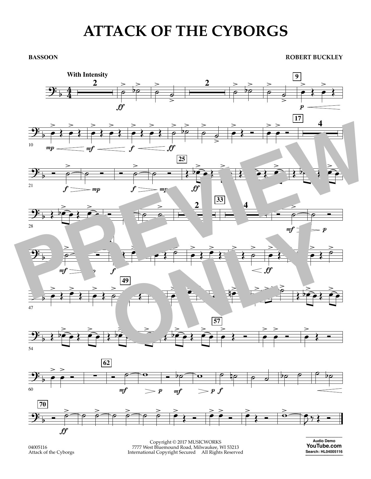 Attack of the Cyborgs - Bassoon Sheet Music
