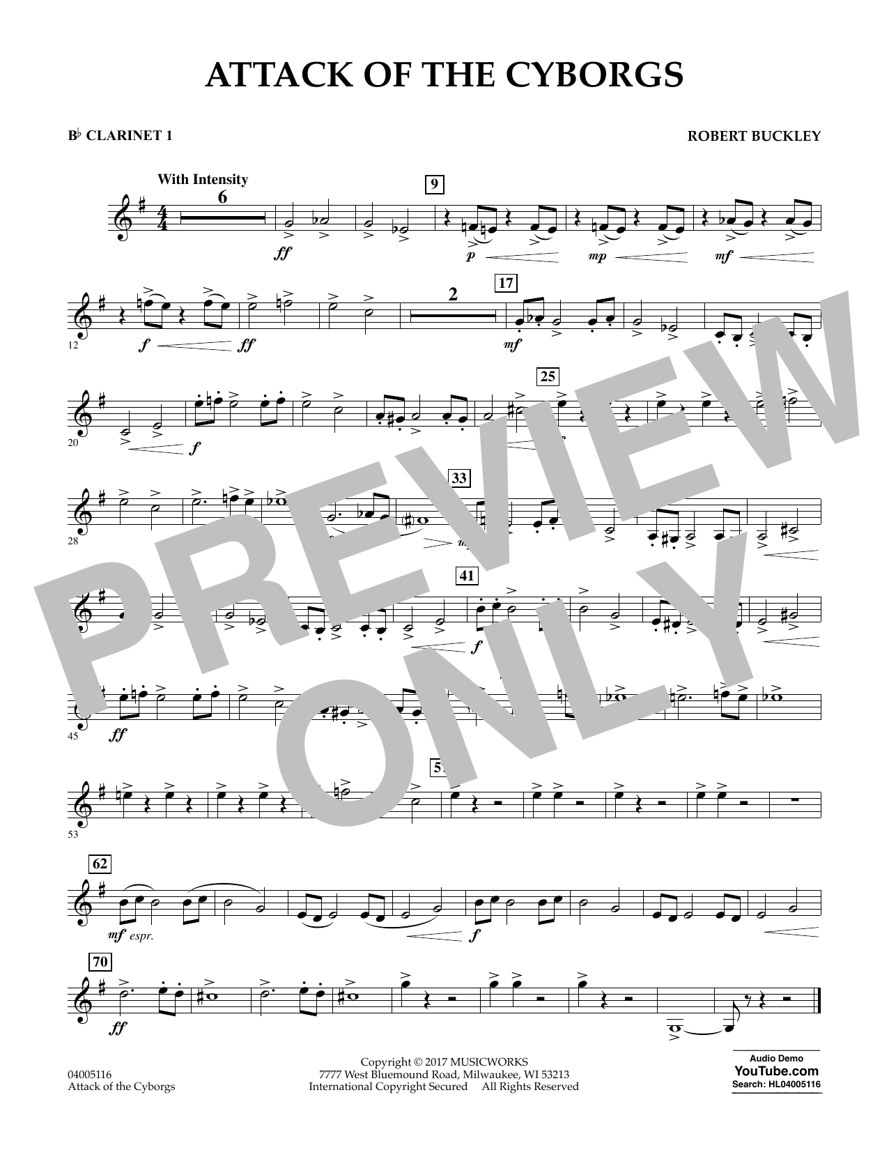 Attack of the Cyborgs - Bb Clarinet 1 Sheet Music