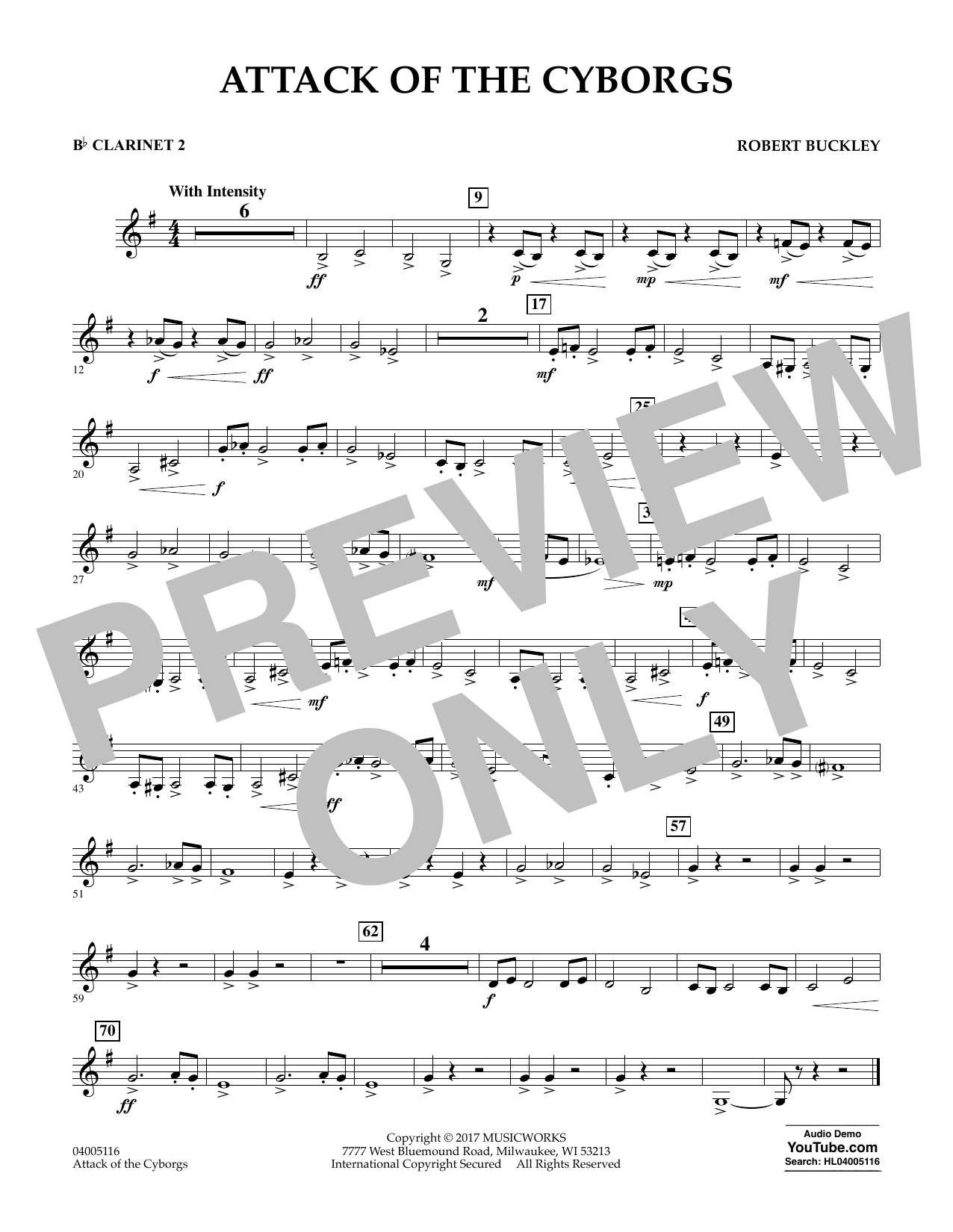 Attack of the Cyborgs - Bb Clarinet 2 Sheet Music