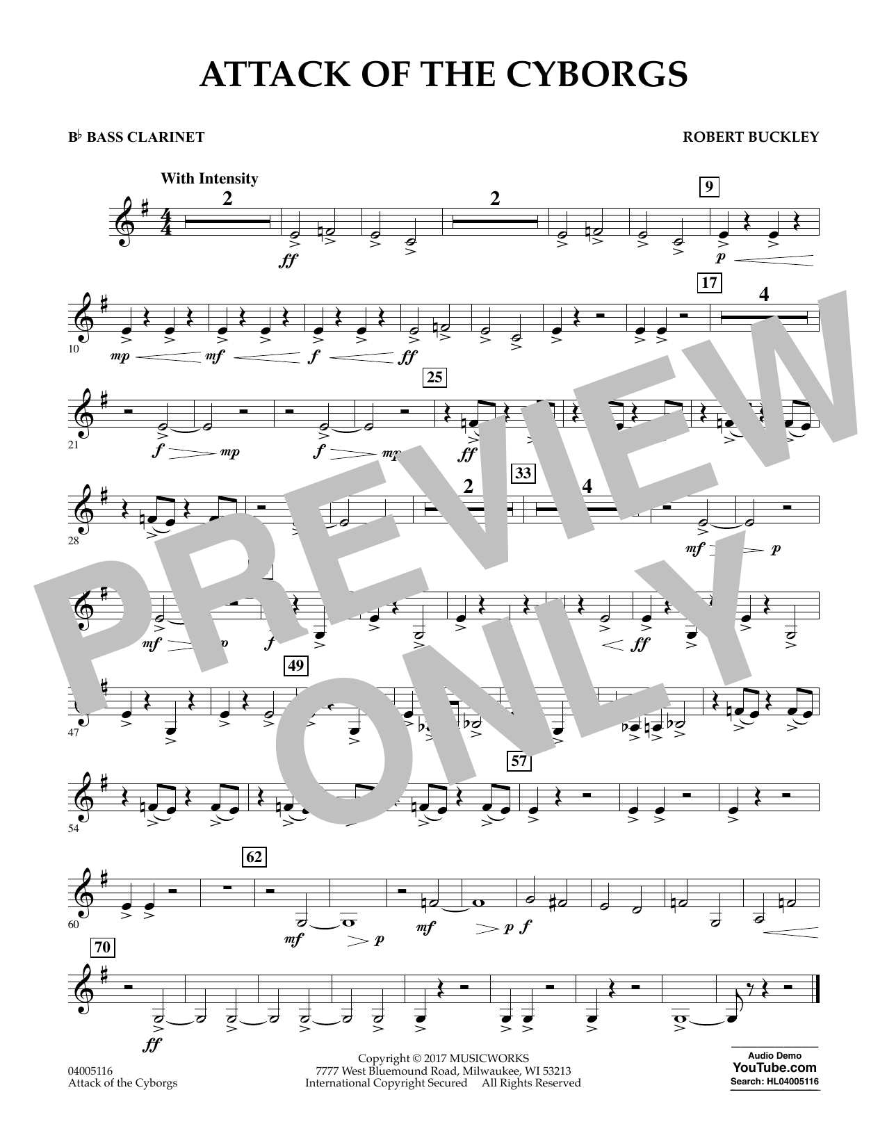 Attack of the Cyborgs - Bb Bass Clarinet Sheet Music