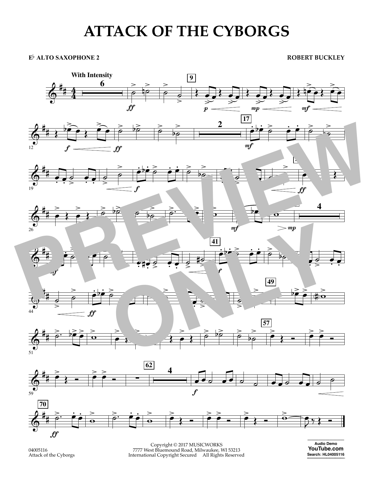 Attack of the Cyborgs - Eb Alto Saxophone 2 Sheet Music