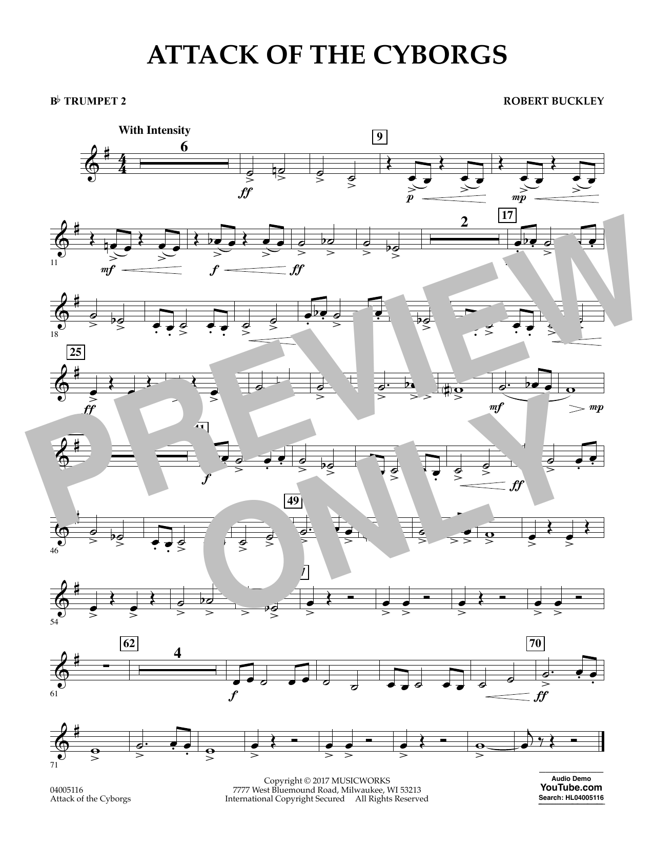 Attack of the Cyborgs - Bb Trumpet 2 Sheet Music