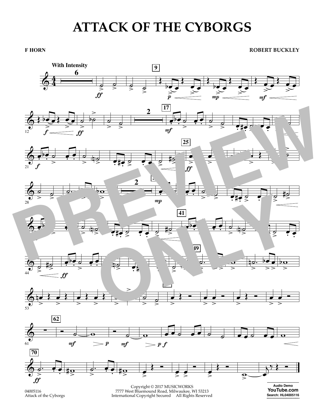 Attack of the Cyborgs - F Horn Sheet Music