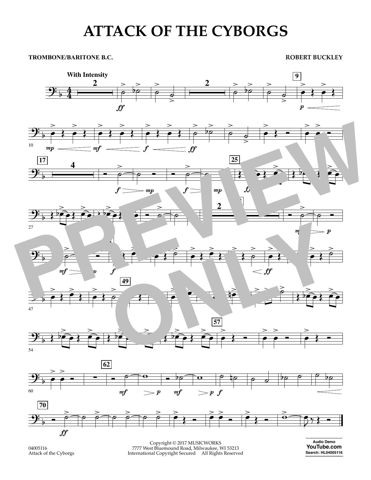 Attack of the Cyborgs - Trombone/Baritone B.C. Sheet Music