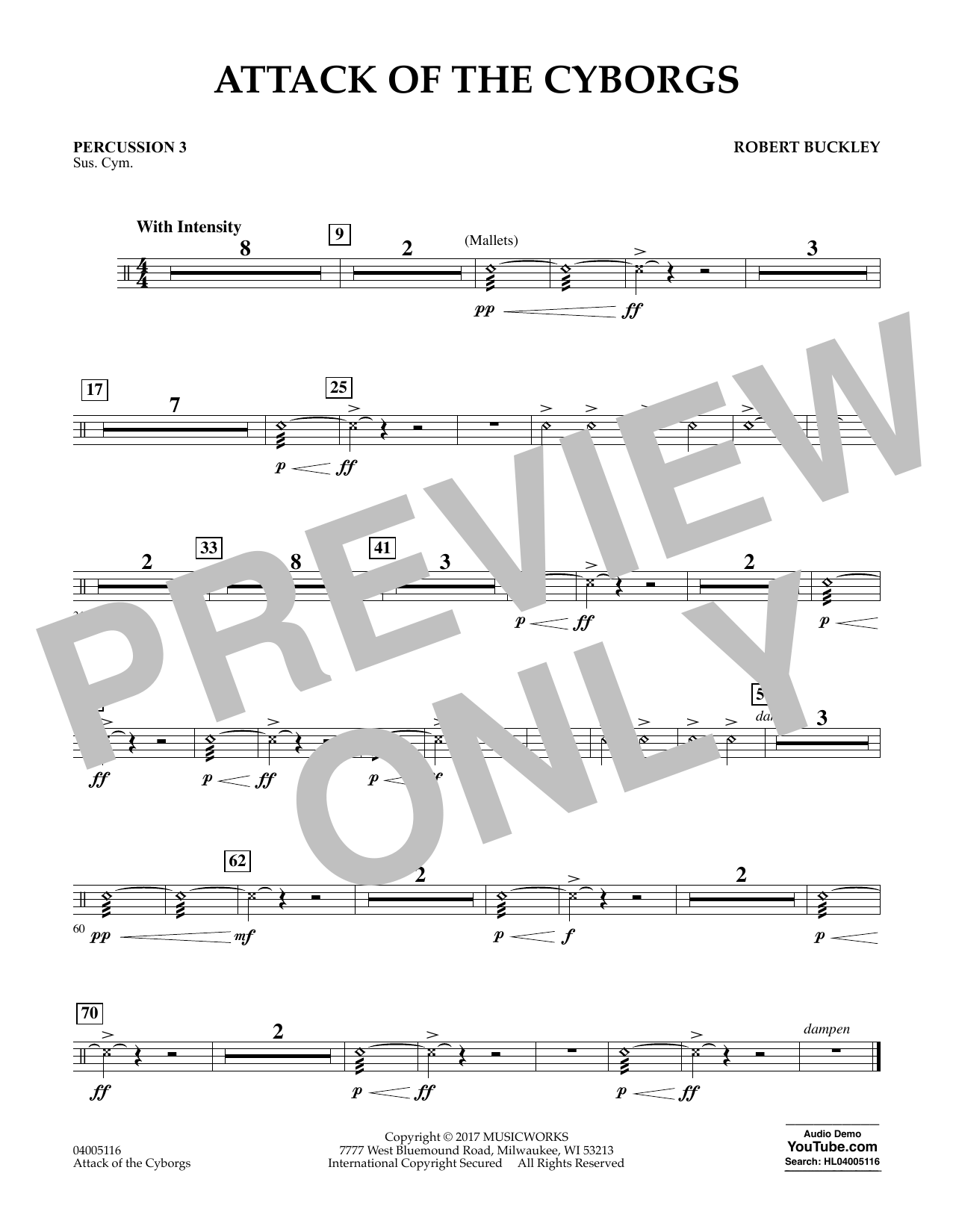 Attack of the Cyborgs - Percussion 3 Sheet Music