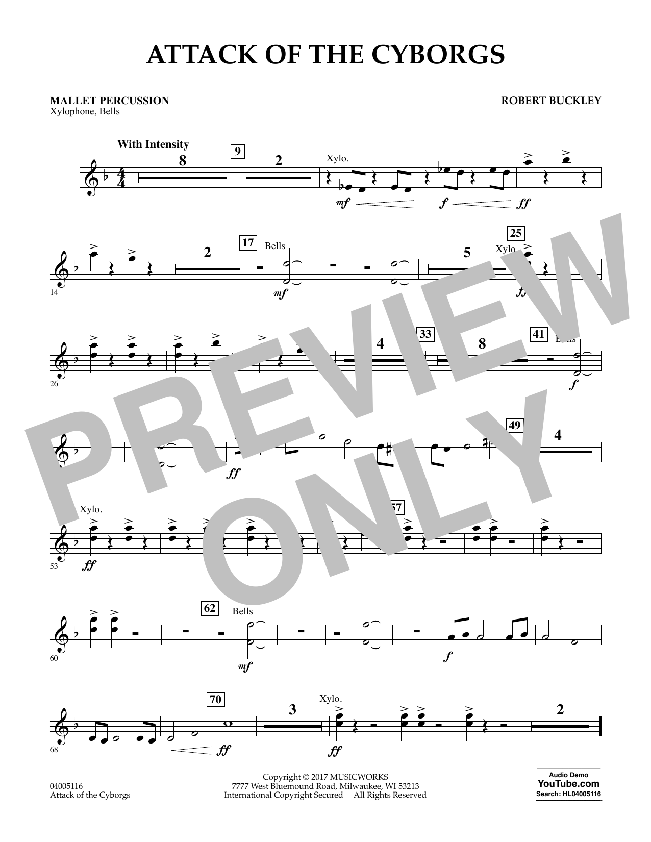 Attack of the Cyborgs - Mallet Percussion Sheet Music