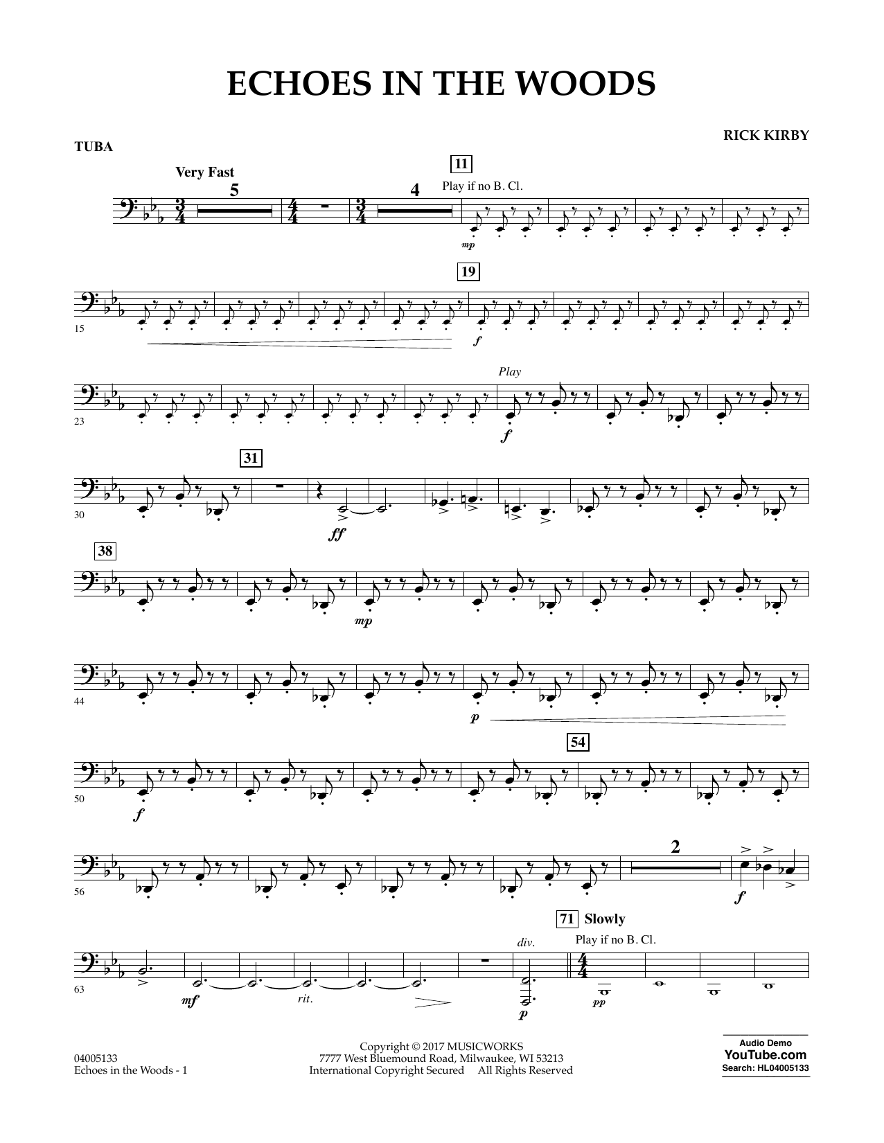 Echoes in the Woods - Tuba Sheet Music