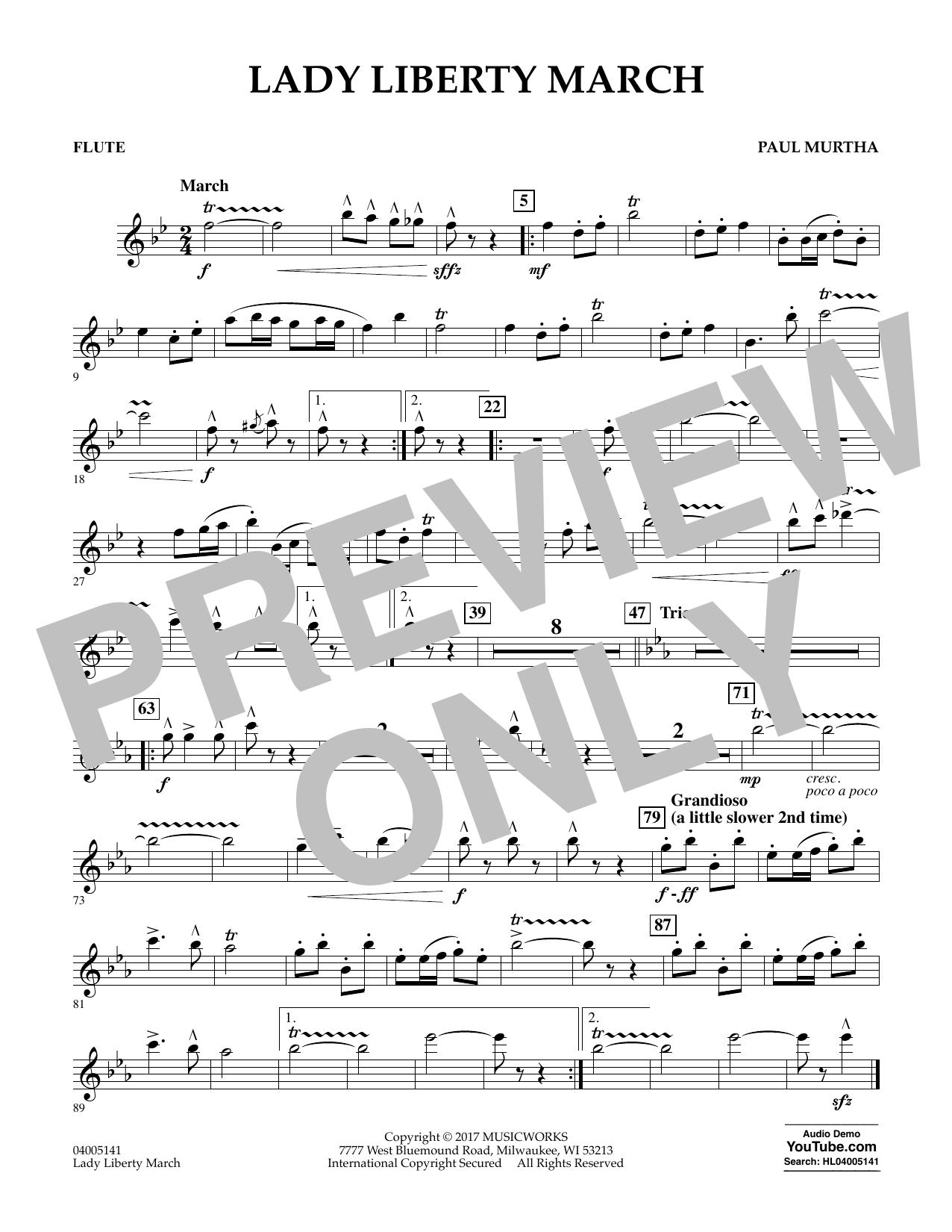 Lady Liberty March - Flute Sheet Music