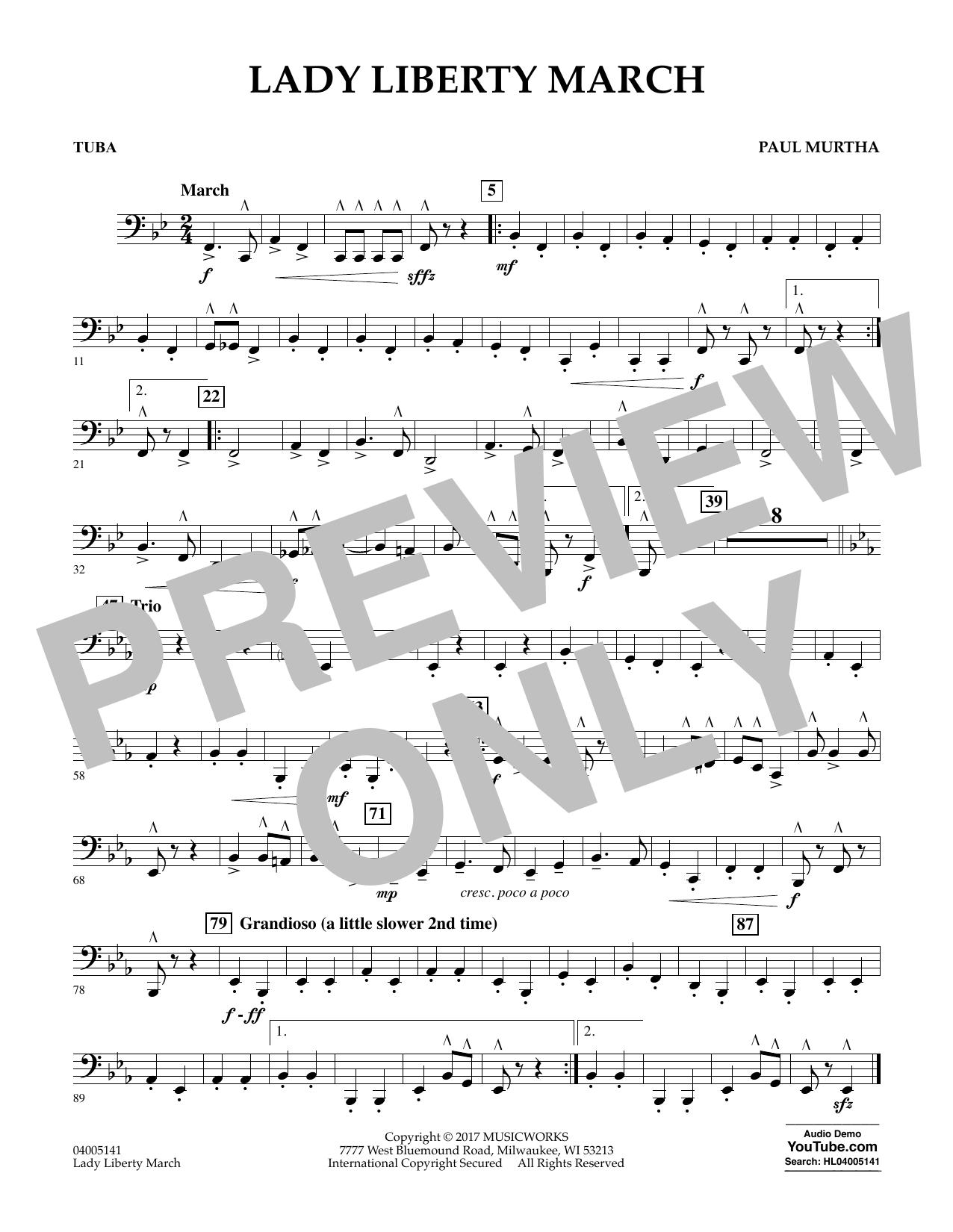 Lady Liberty March - Tuba Sheet Music
