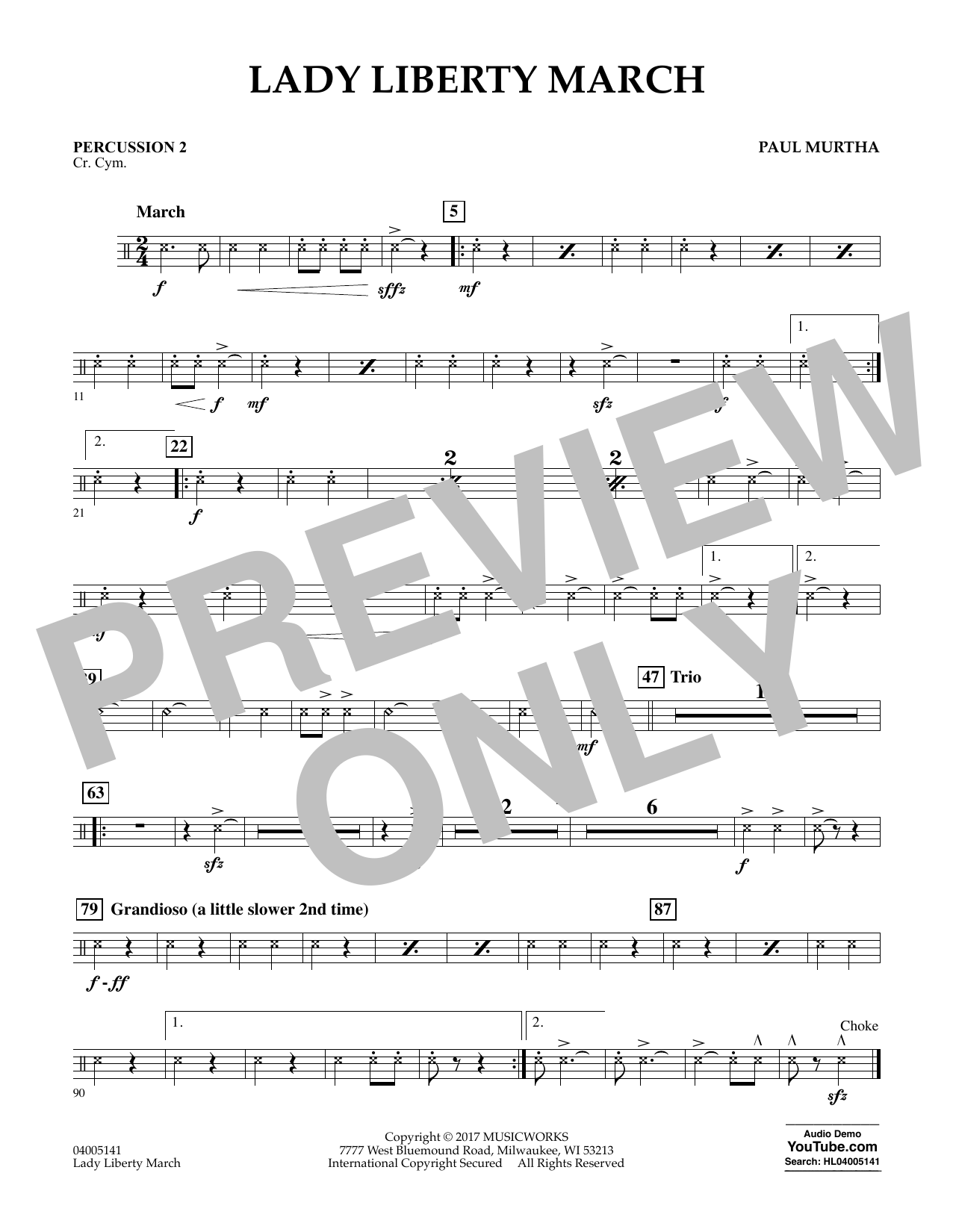 Lady Liberty March - Percussion 2 Sheet Music