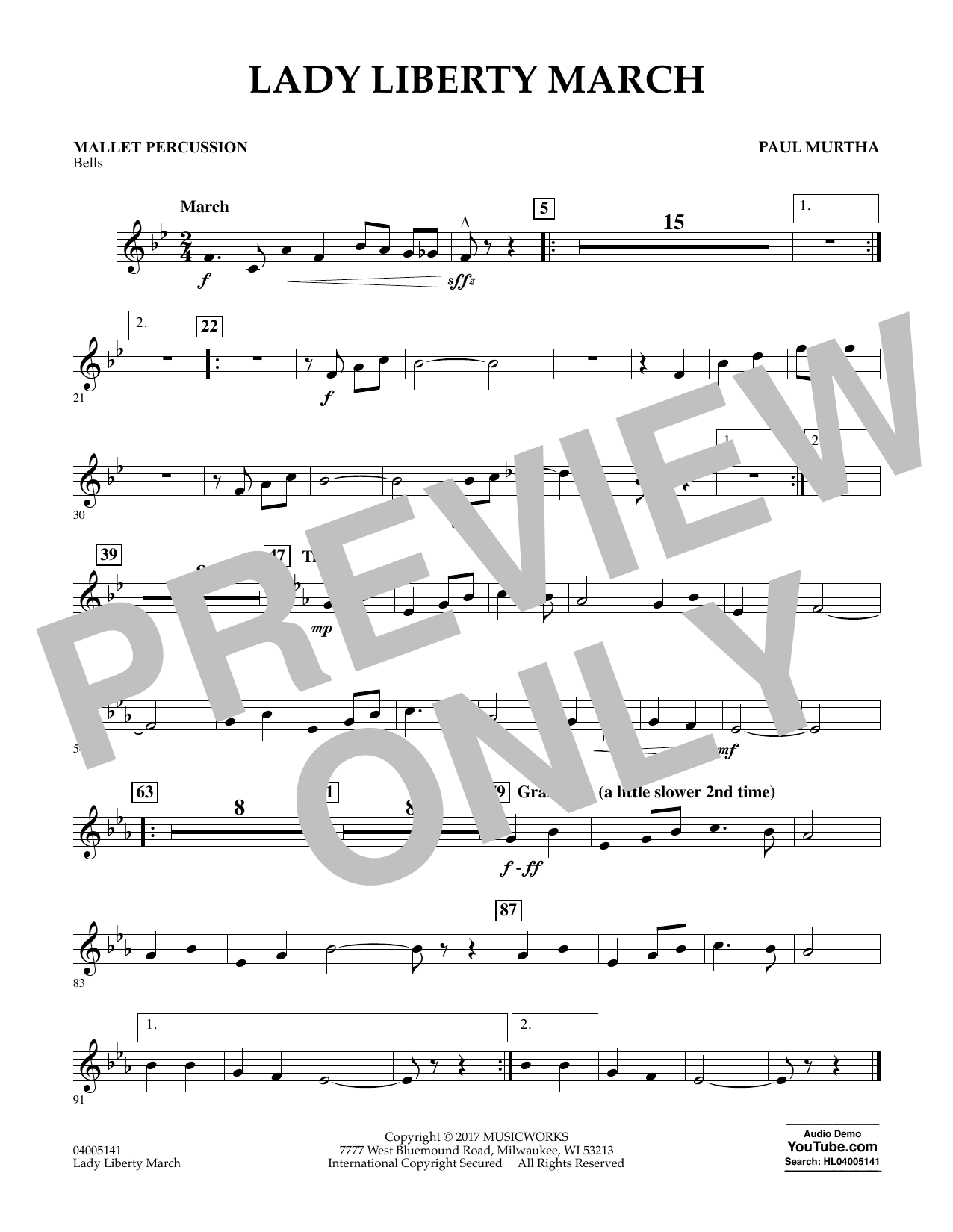 Lady Liberty March - Mallet Percussion Sheet Music