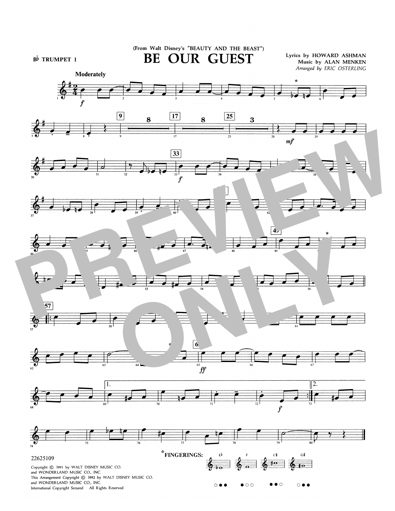Be Our Guest - Bb Trumpet 1 Sheet Music