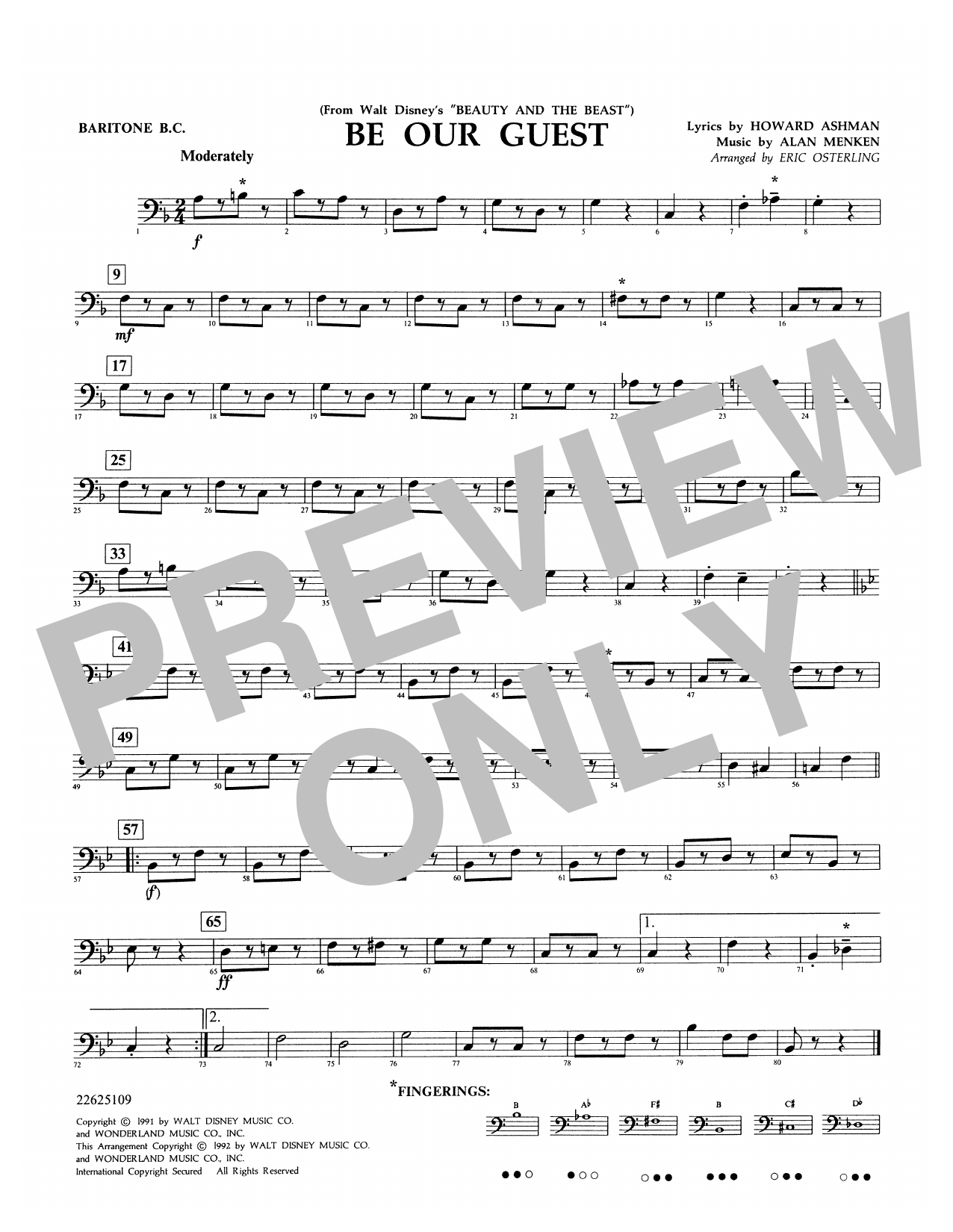Be Our Guest - Baritone B.C. Sheet Music