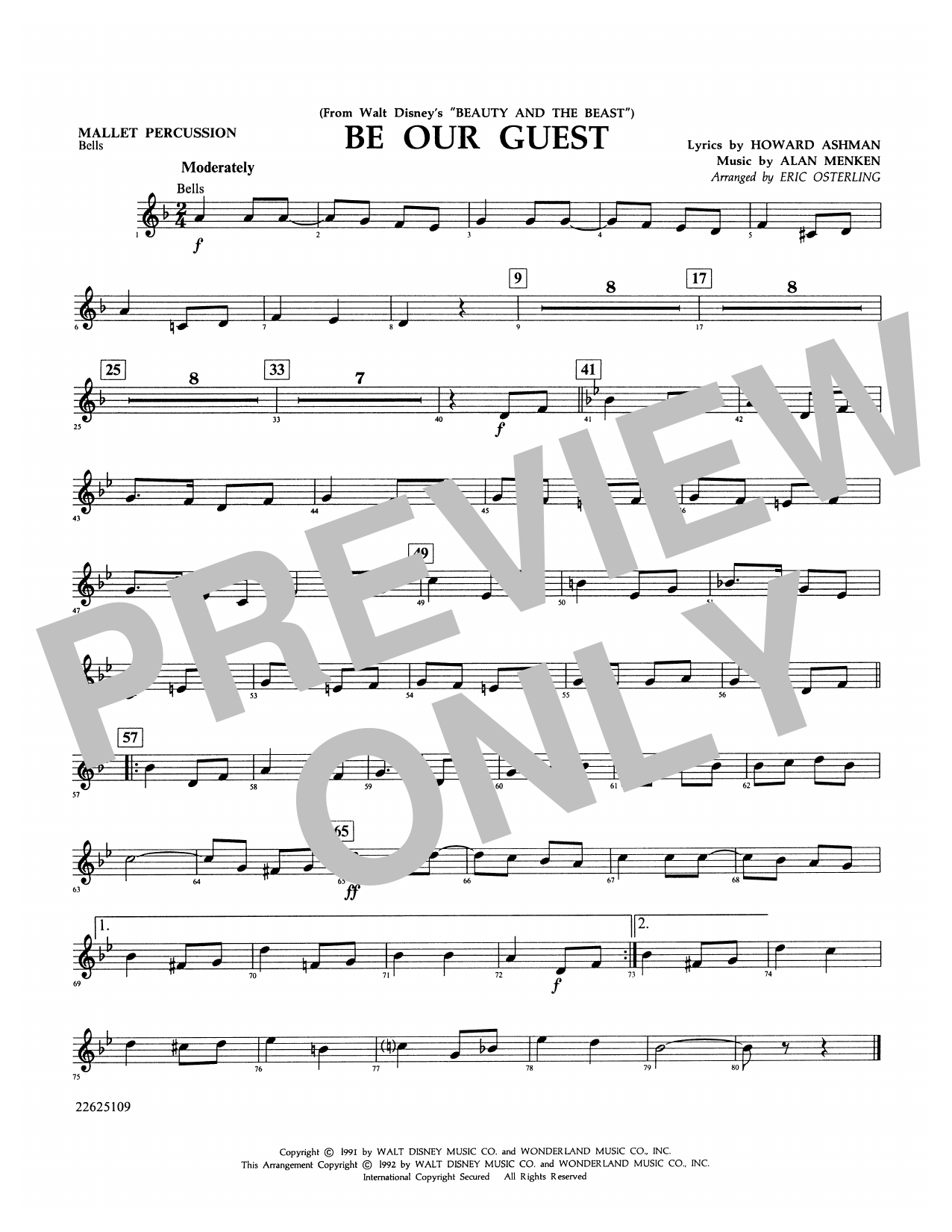 Be Our Guest - Mallet Percussion Sheet Music