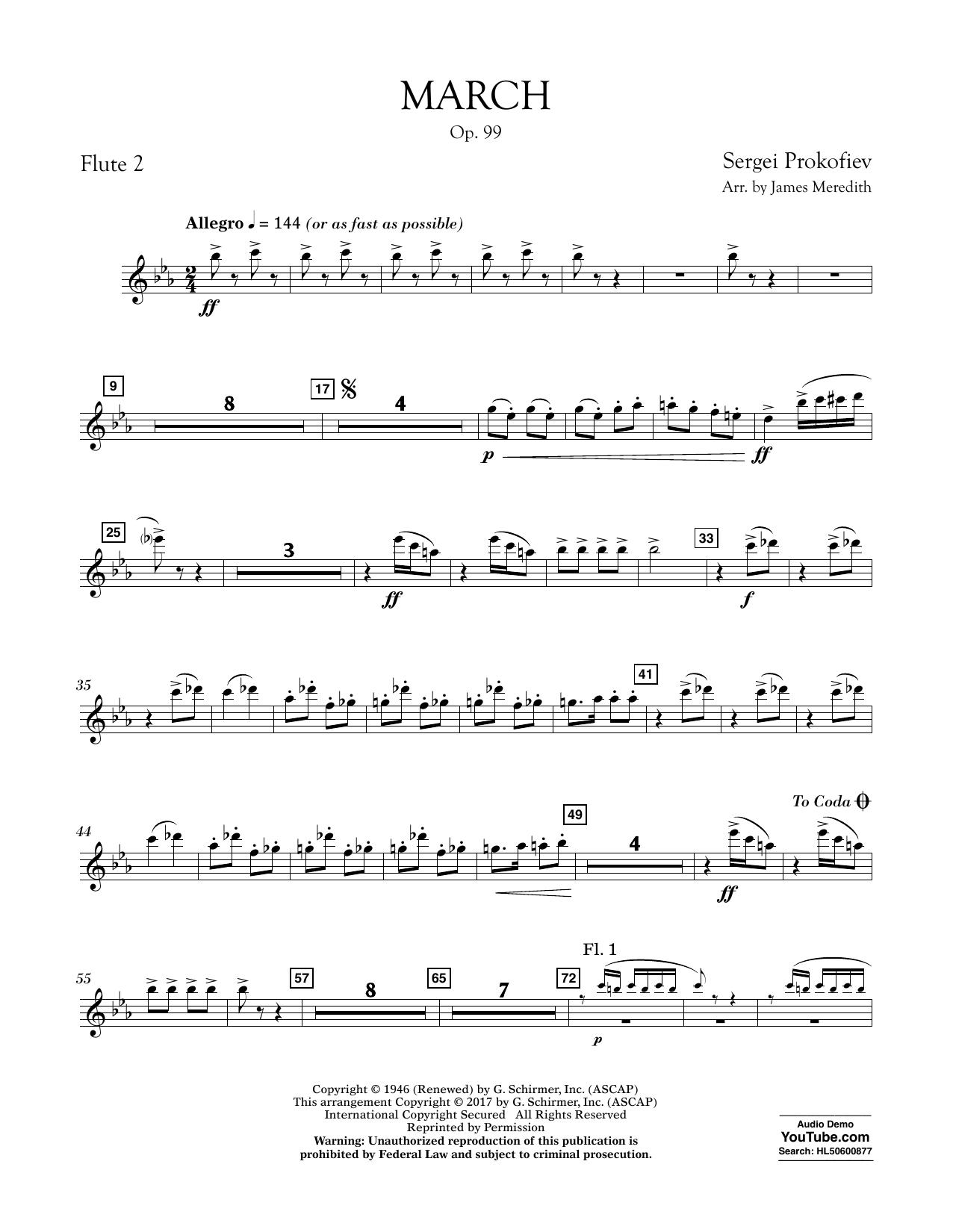 March, Op. 99 - Flute 2 Sheet Music