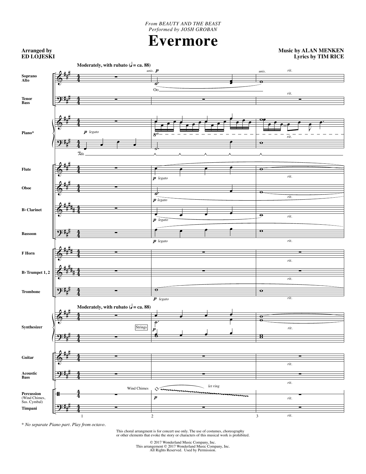 Evermore - Full Score Sheet Music