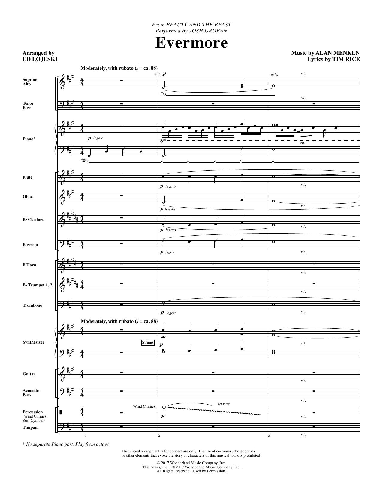 Evermore - Full Score Partituras Digitales
