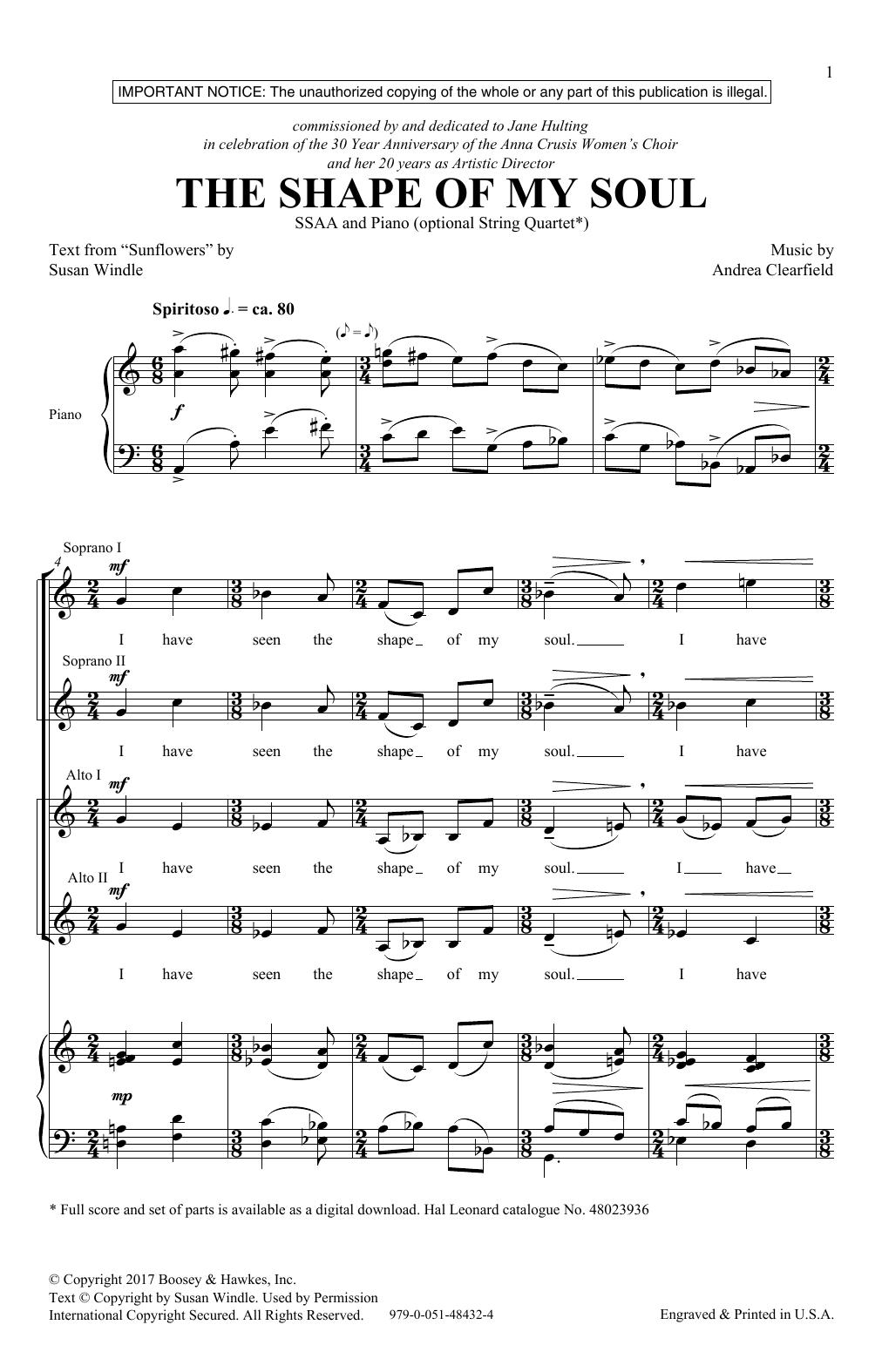 The Shape Of My Soul (SSA Choir)