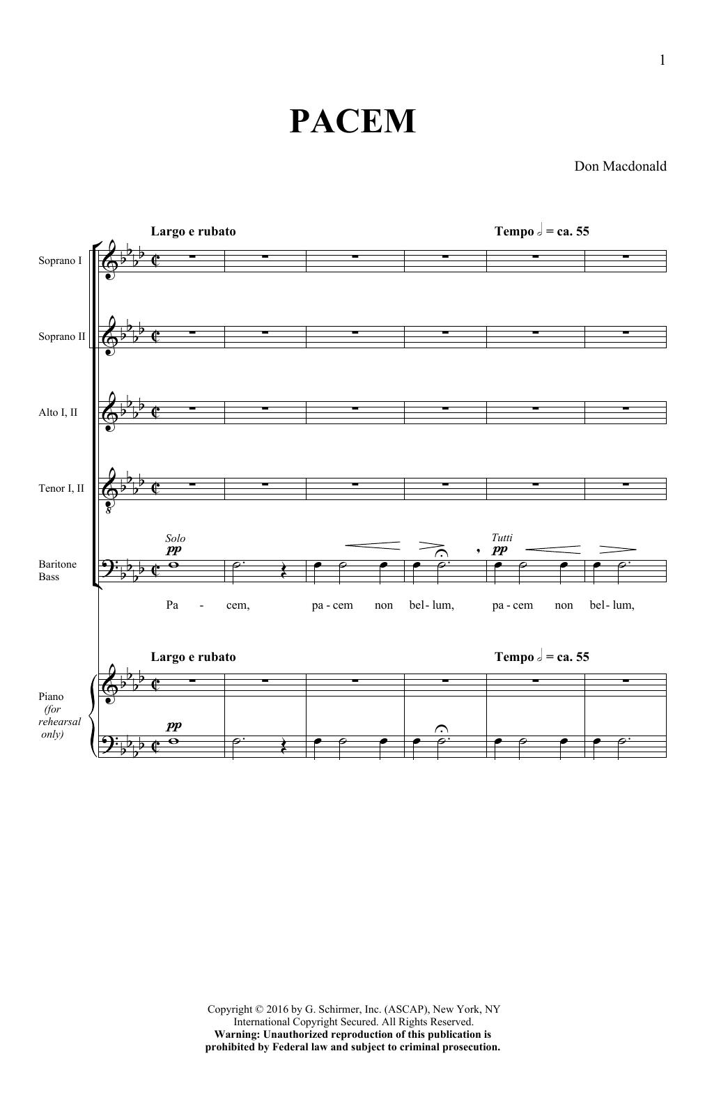 Pacem (SATB Choir)