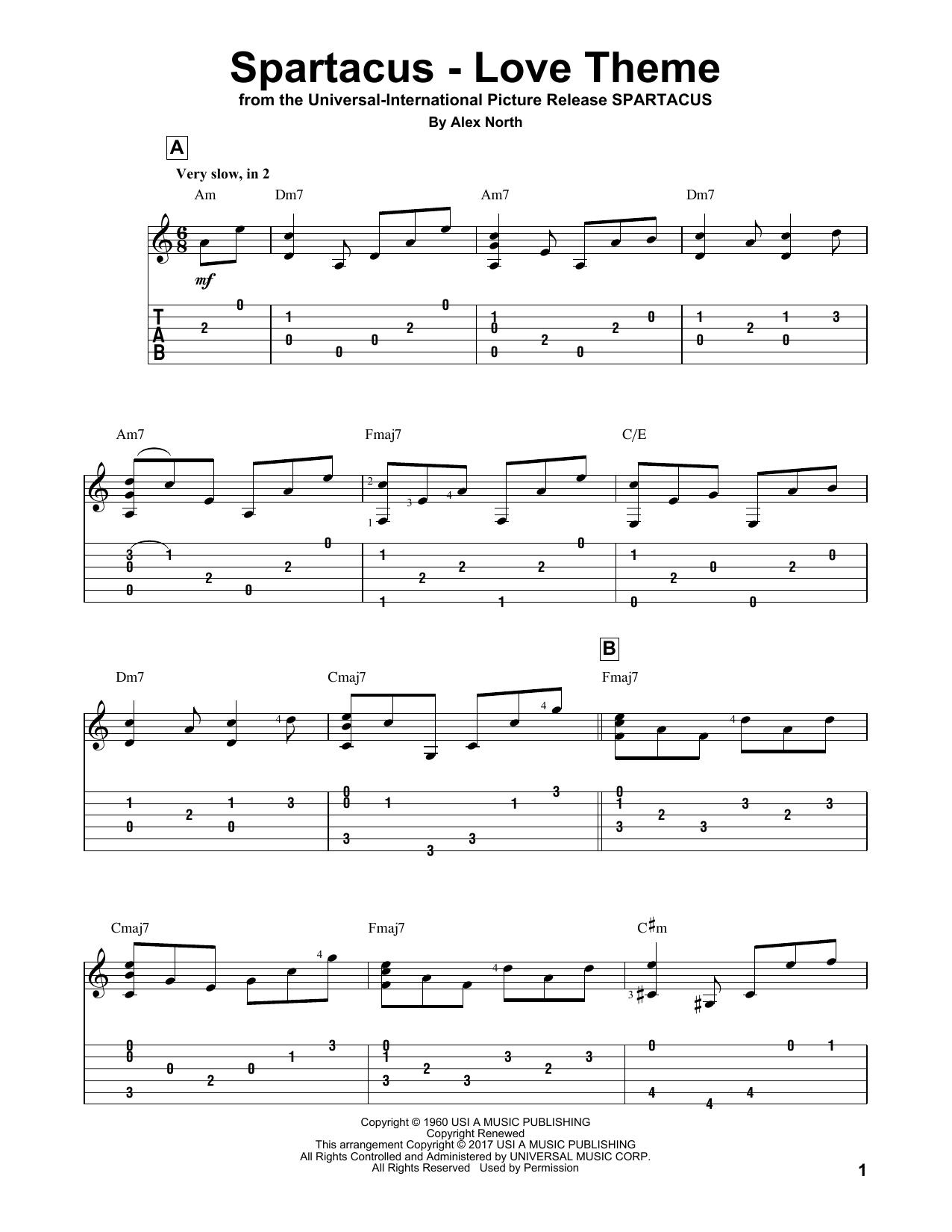 Spartacus - Love Theme (Guitar Tab)