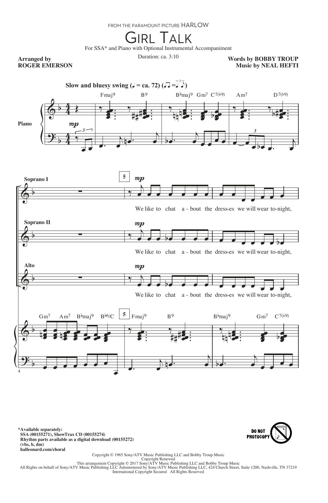 Girl Talk (SSA Choir)